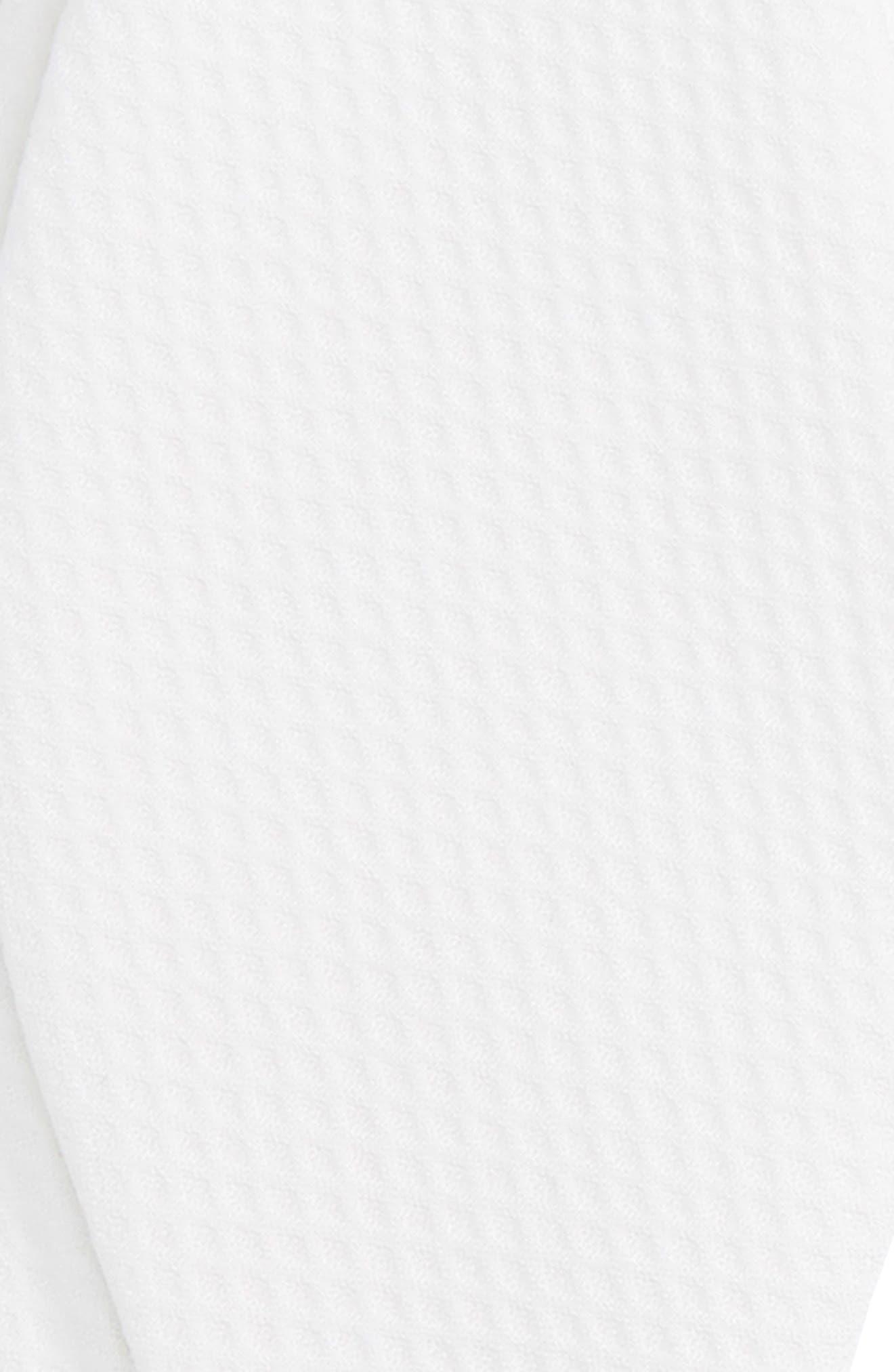 Piqué Cotton Bow Tie,                             Alternate thumbnail 3, color,                             WHITE