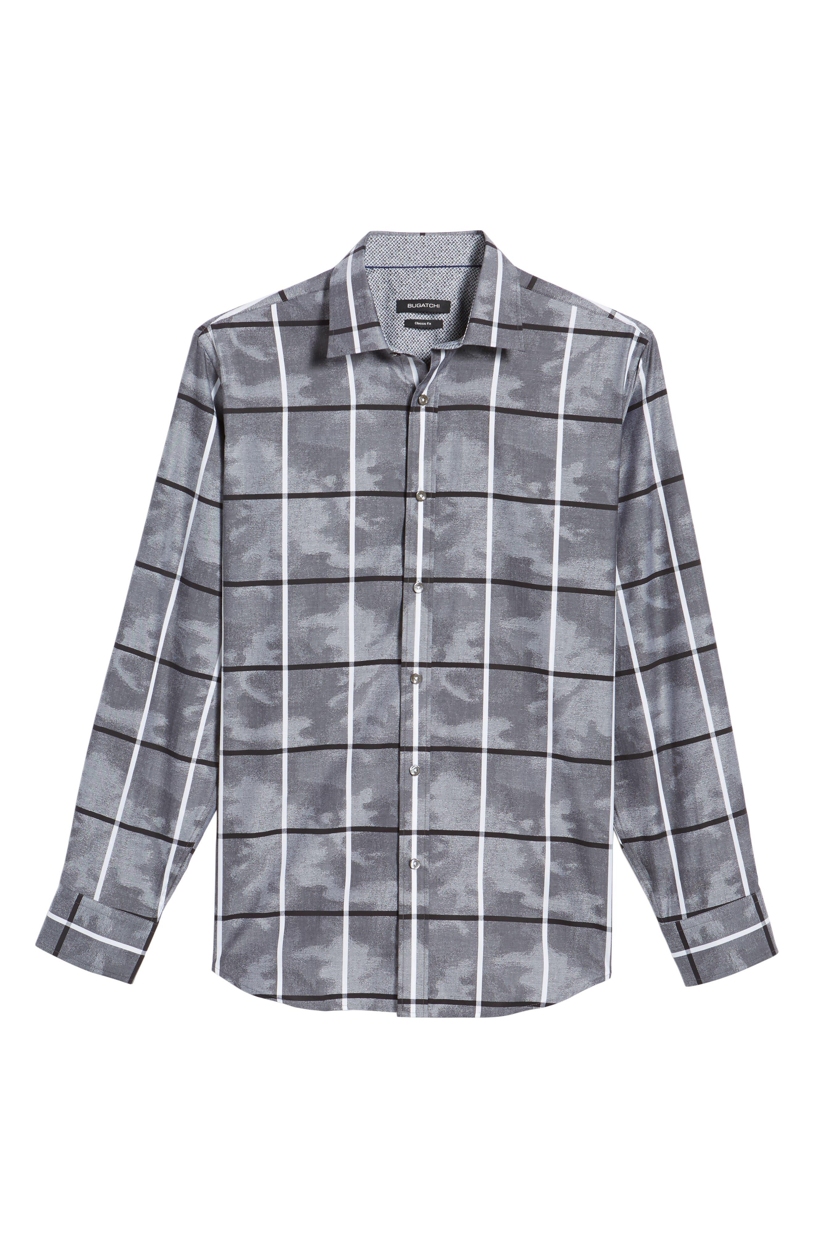 Regular Fit Camo Grid Sport Shirt,                             Alternate thumbnail 6, color,                             020