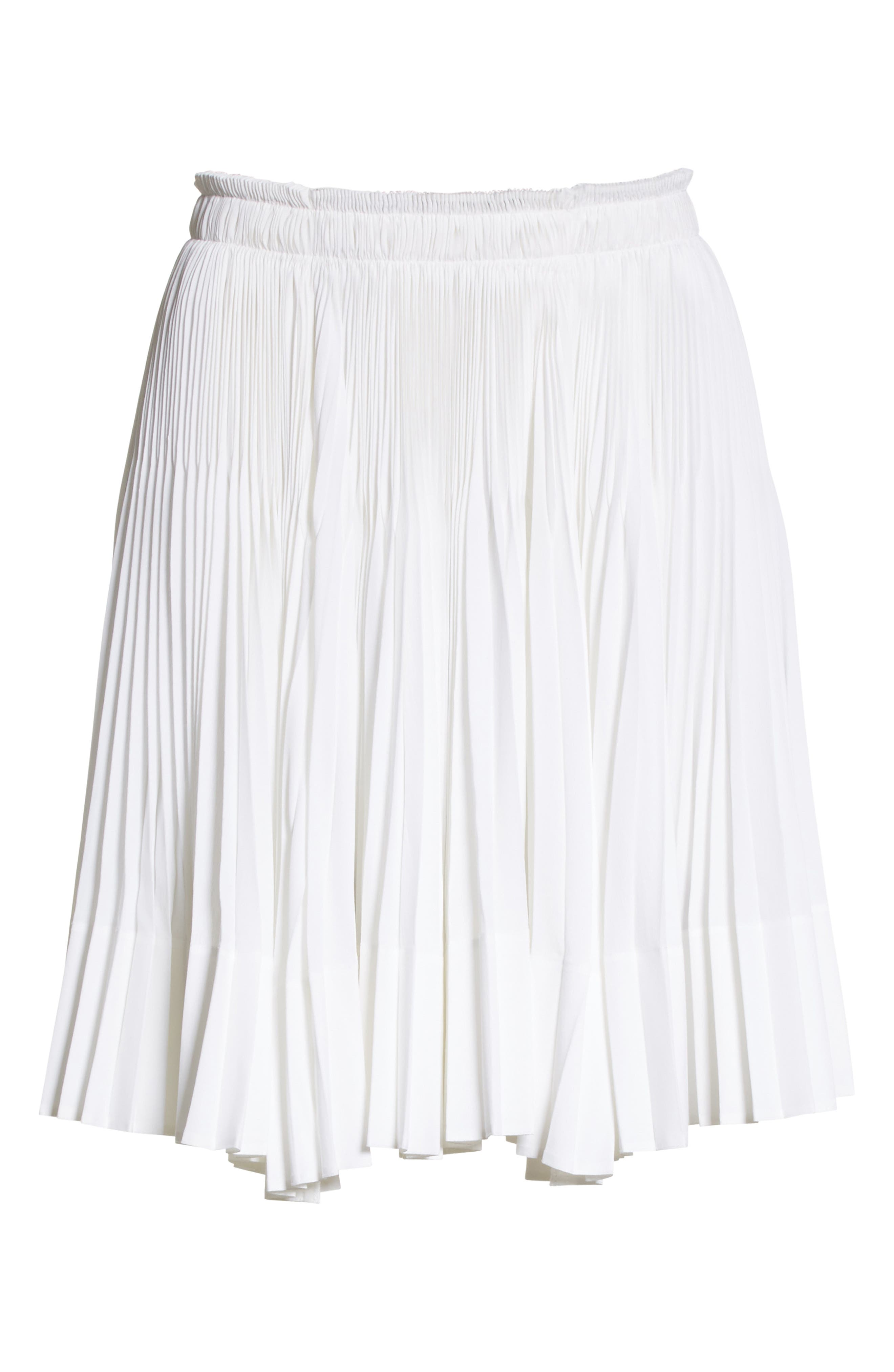 VINCE,                             Multi Pleat Skirt,                             Alternate thumbnail 6, color,                             137