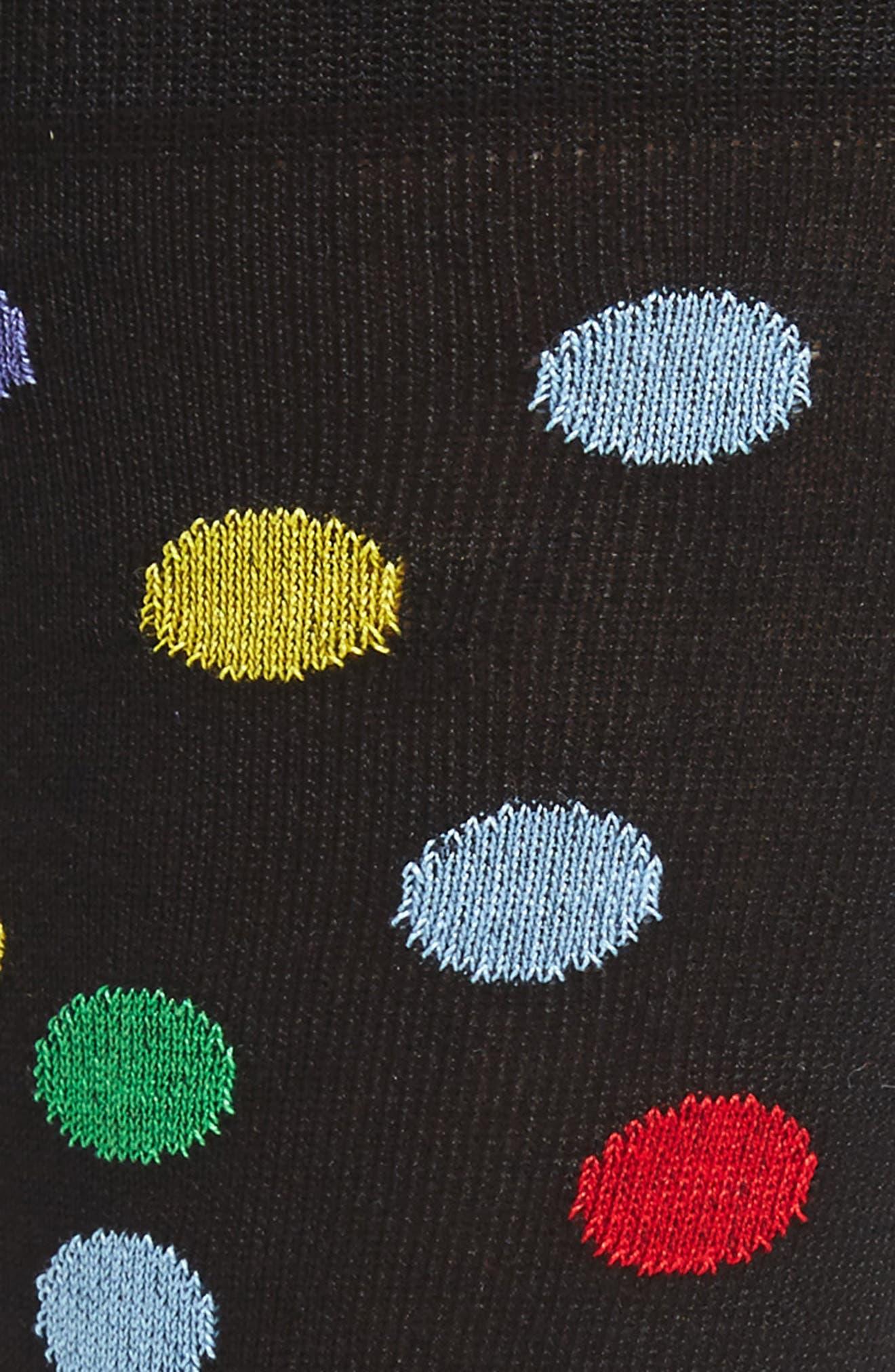 Large Polka Dot Socks,                             Alternate thumbnail 2, color,                             001