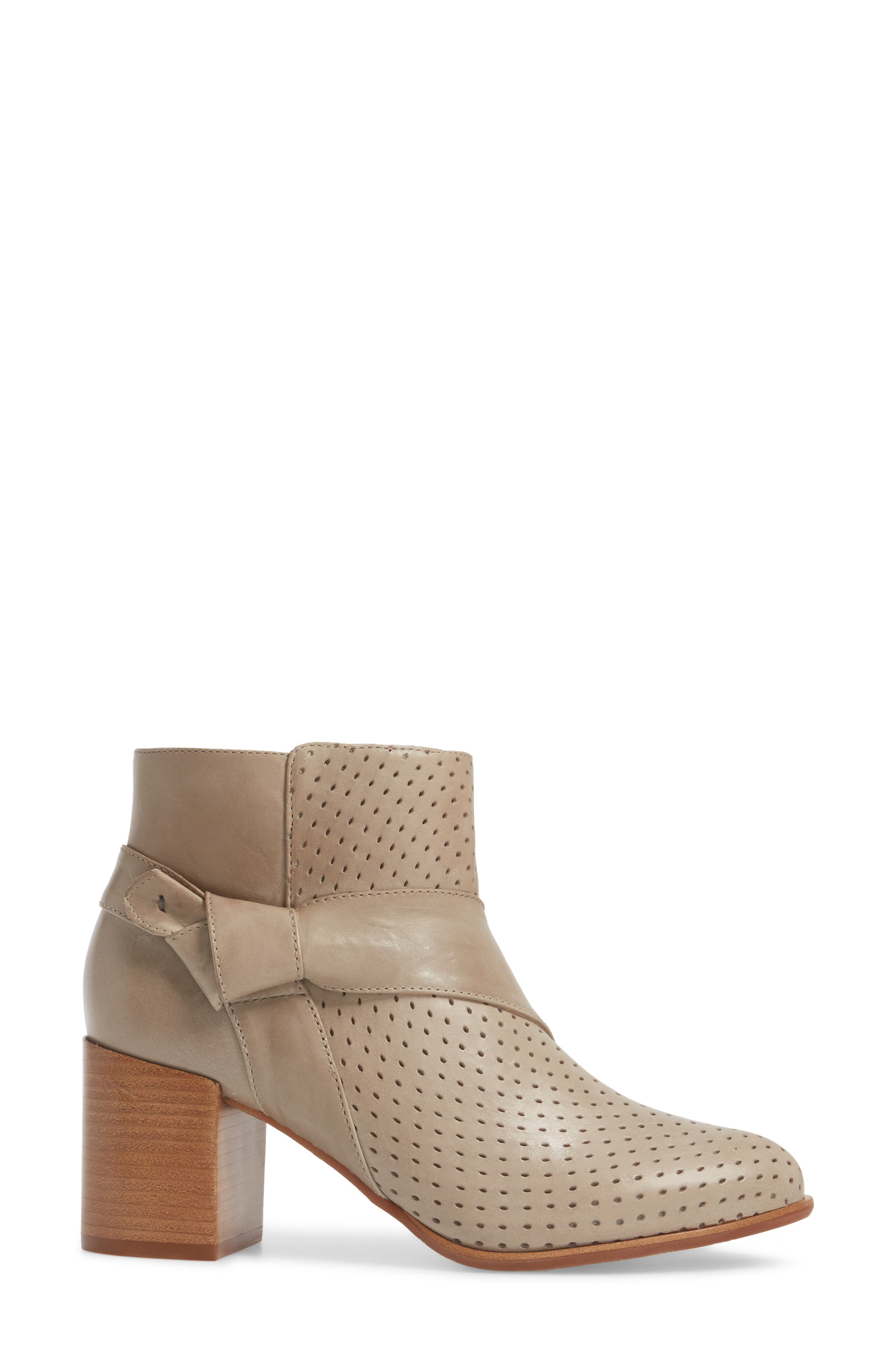 Felice Bootie,                             Alternate thumbnail 3, color,                             GREY LEATHER