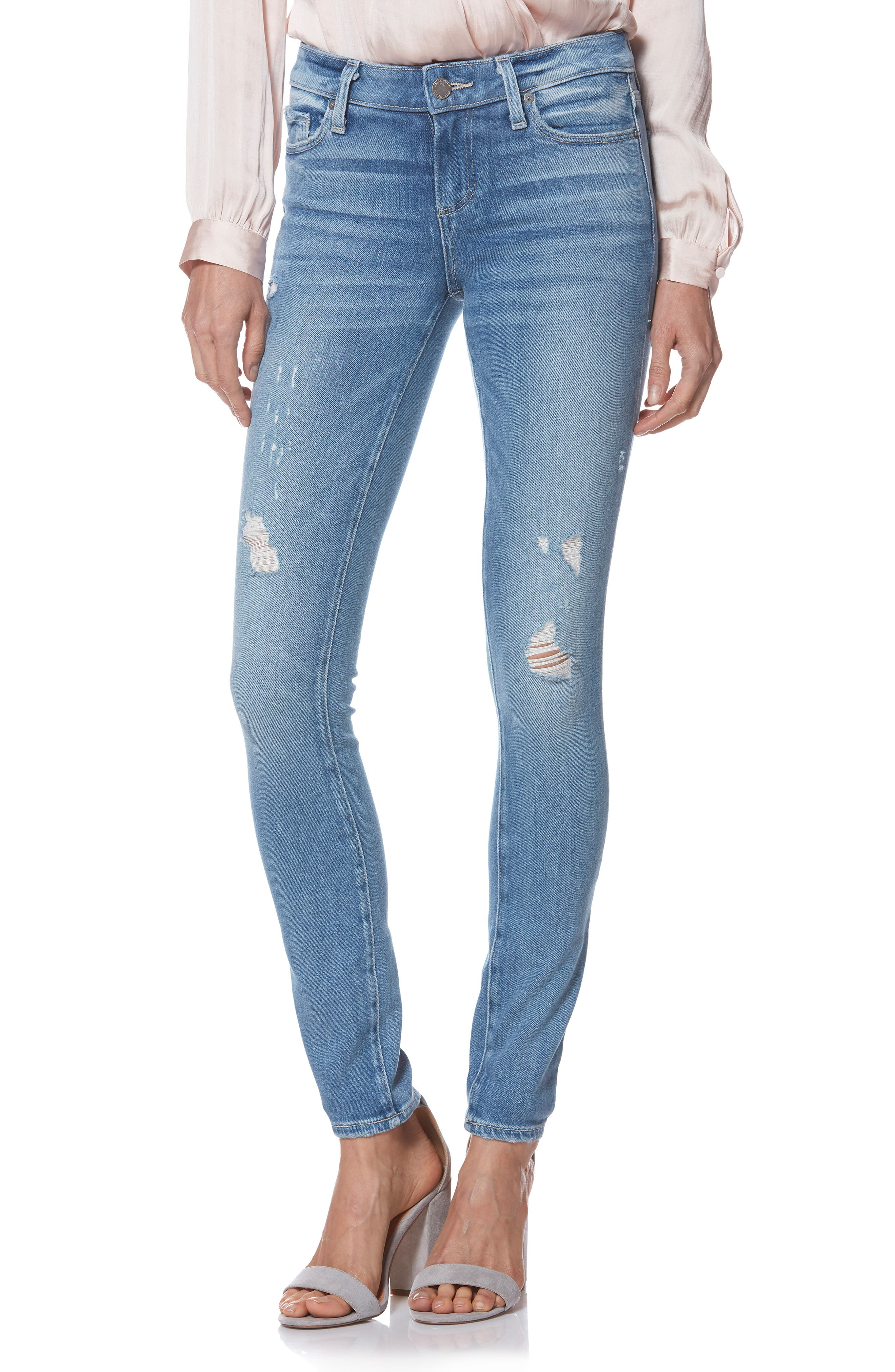 PAIGE Verdugo Ultra Skinny Jeans, Main, color, KAYSON DISTRESSED