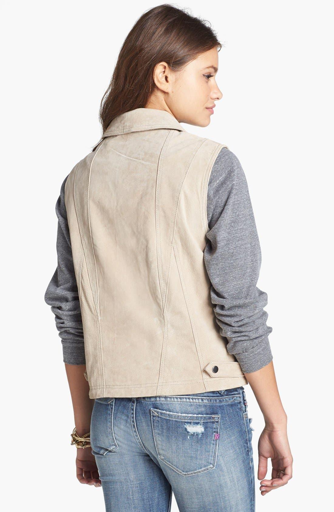 Suede Moto Vest,                             Alternate thumbnail 3, color,                             250