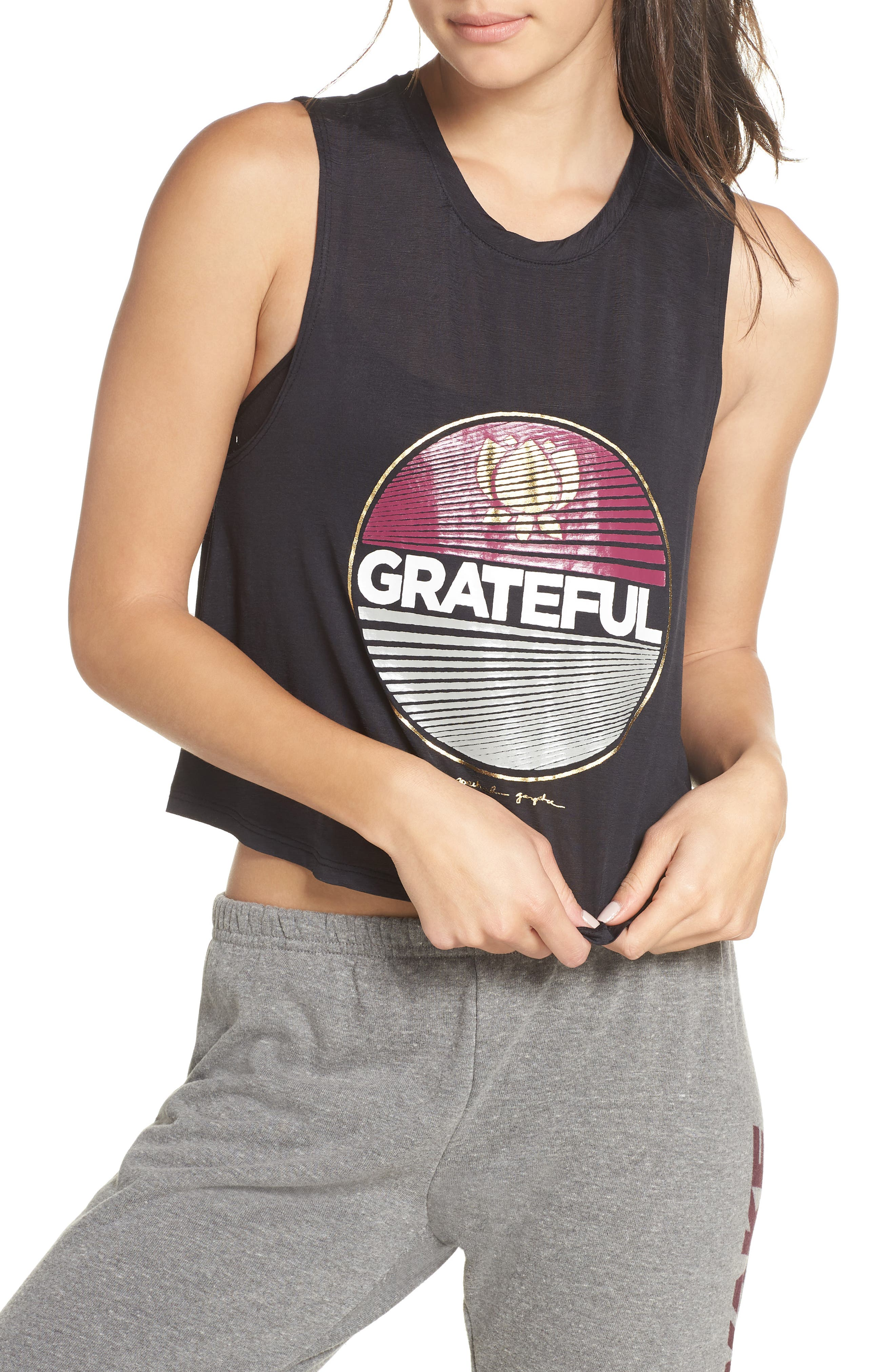 Grateful Crop Tank,                             Main thumbnail 1, color,                             VINTAGE BLACK