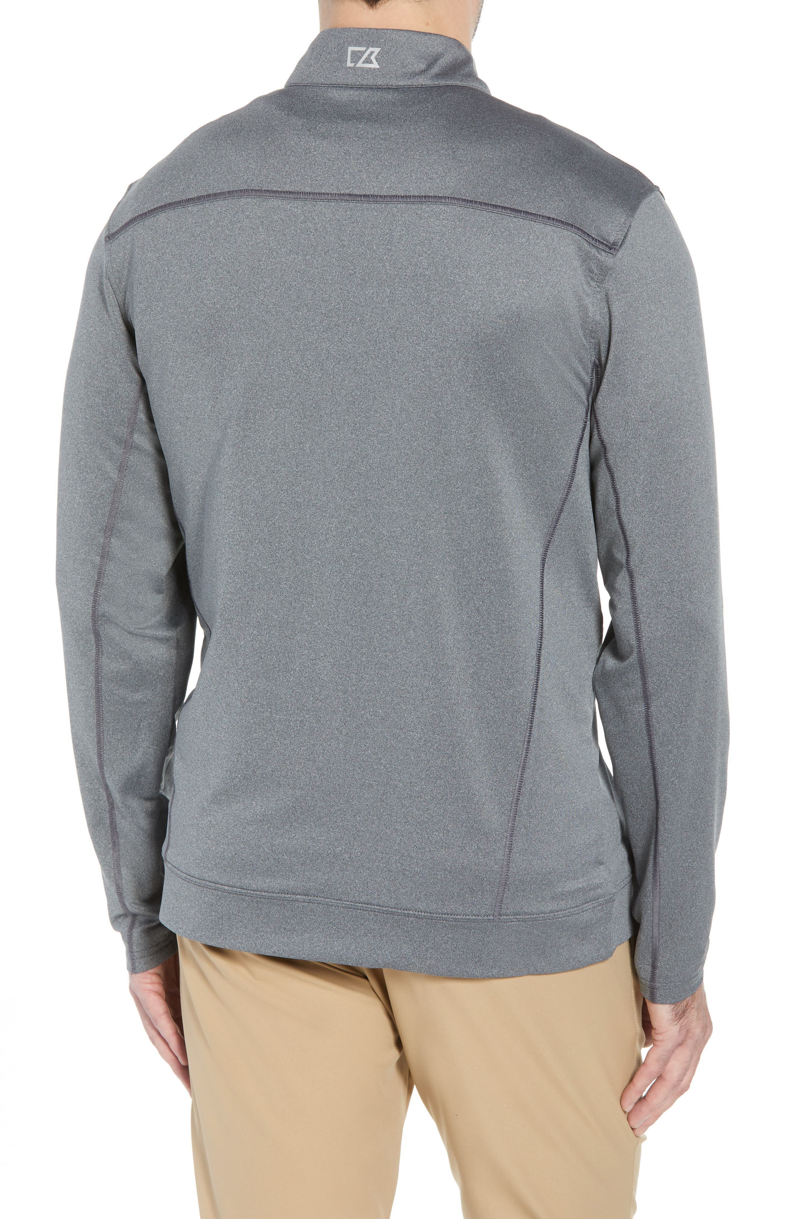 Endurance Kansas City Chiefs Regular Fit Pullover,                             Alternate thumbnail 2, color,                             CHARCOAL HEATHER