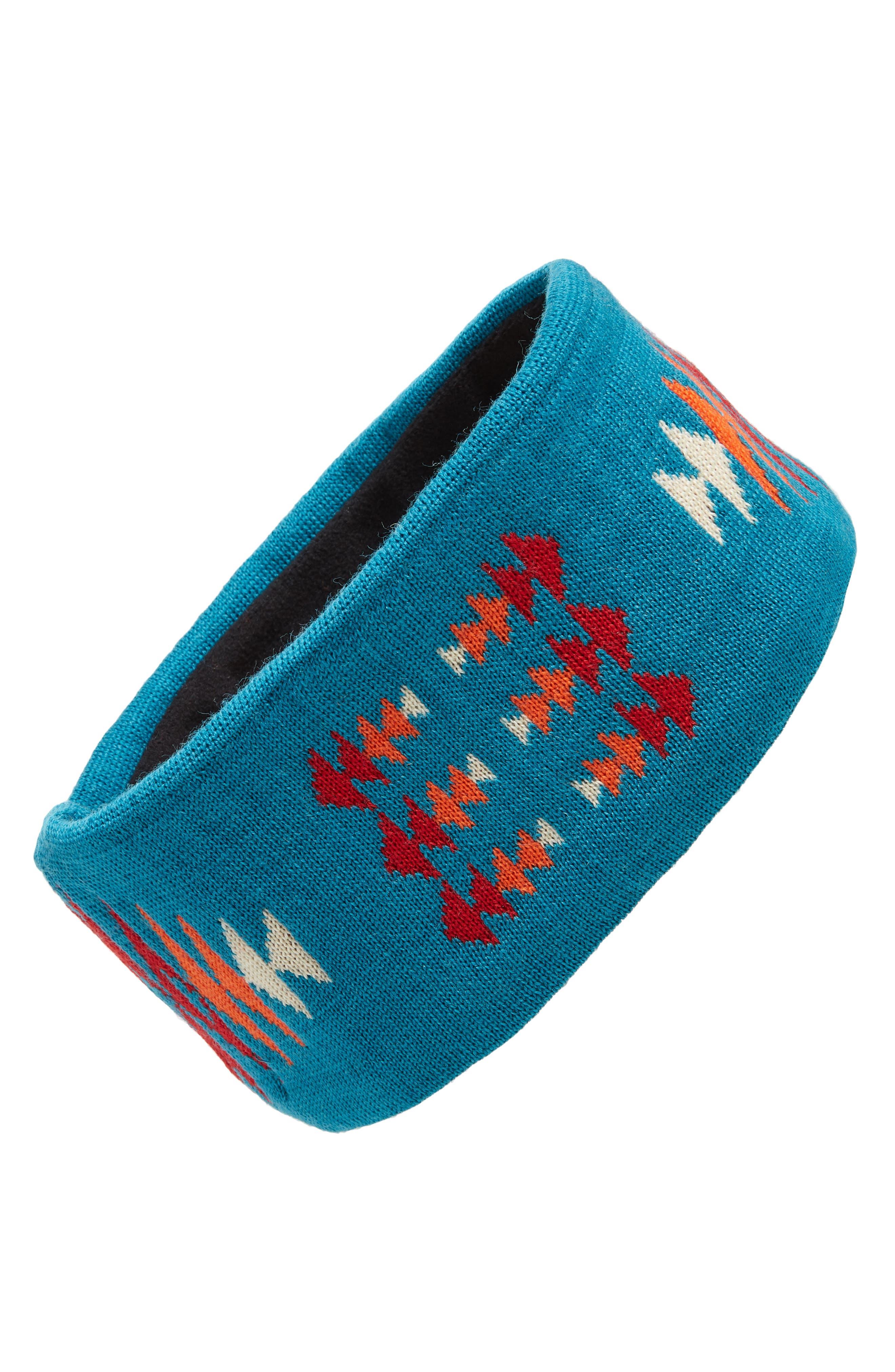 PENDLETON Fleece Lined Headband in Turquoise