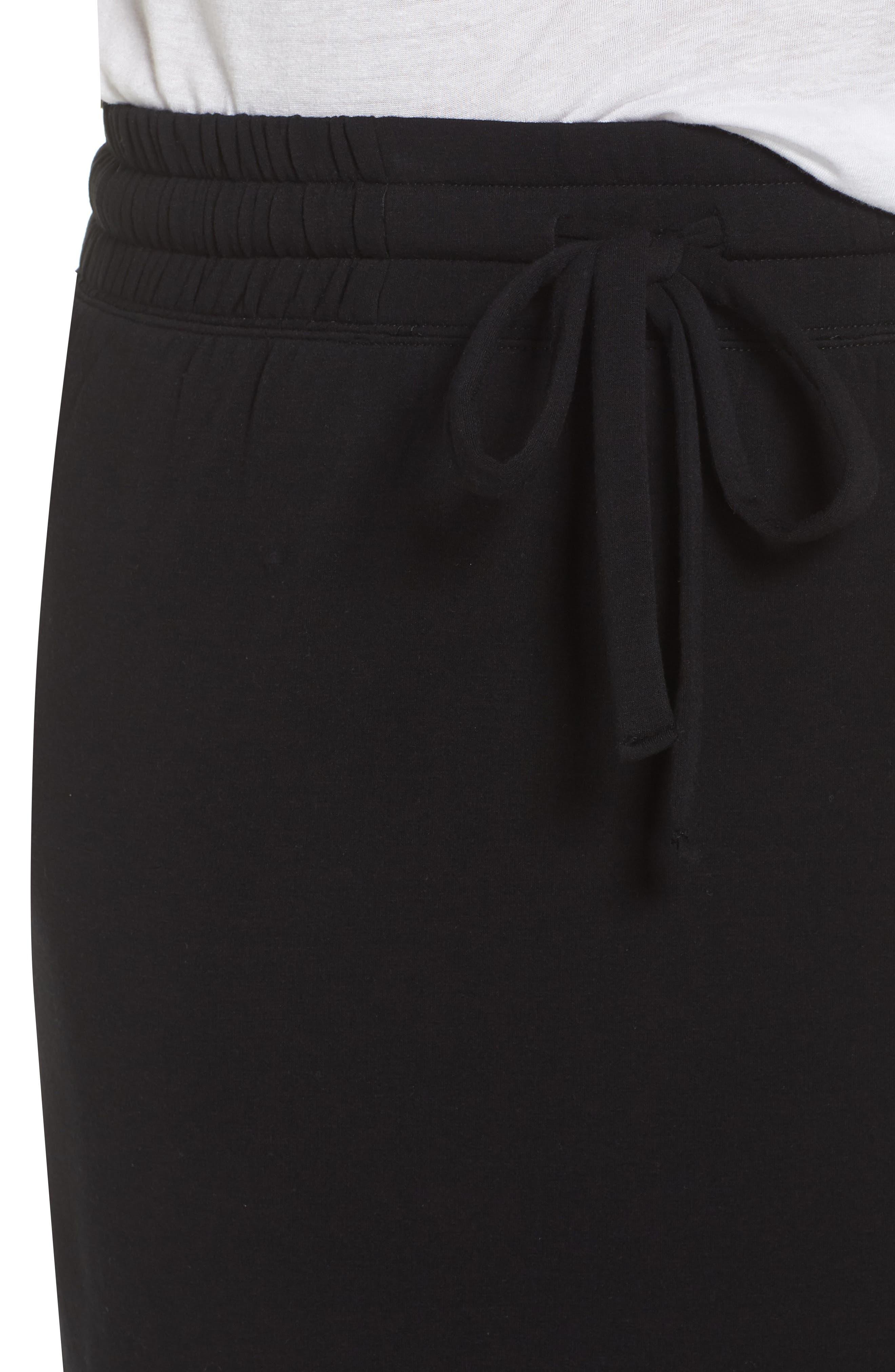 Off-Duty Tie Waist Miniskirt,                             Alternate thumbnail 4, color,                             001