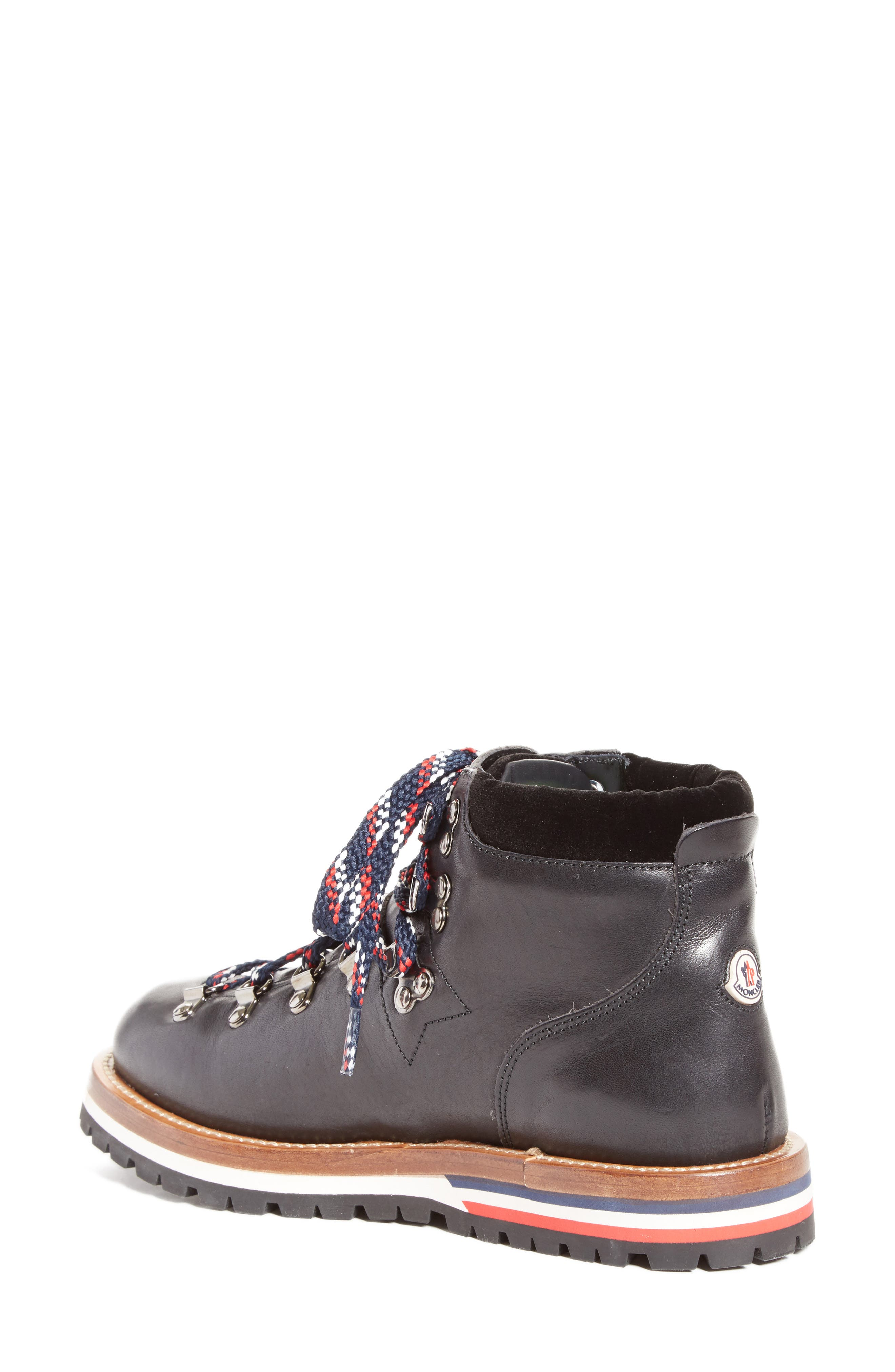 Blanche Lace-up Boot,                             Alternate thumbnail 2, color,                             BLACK
