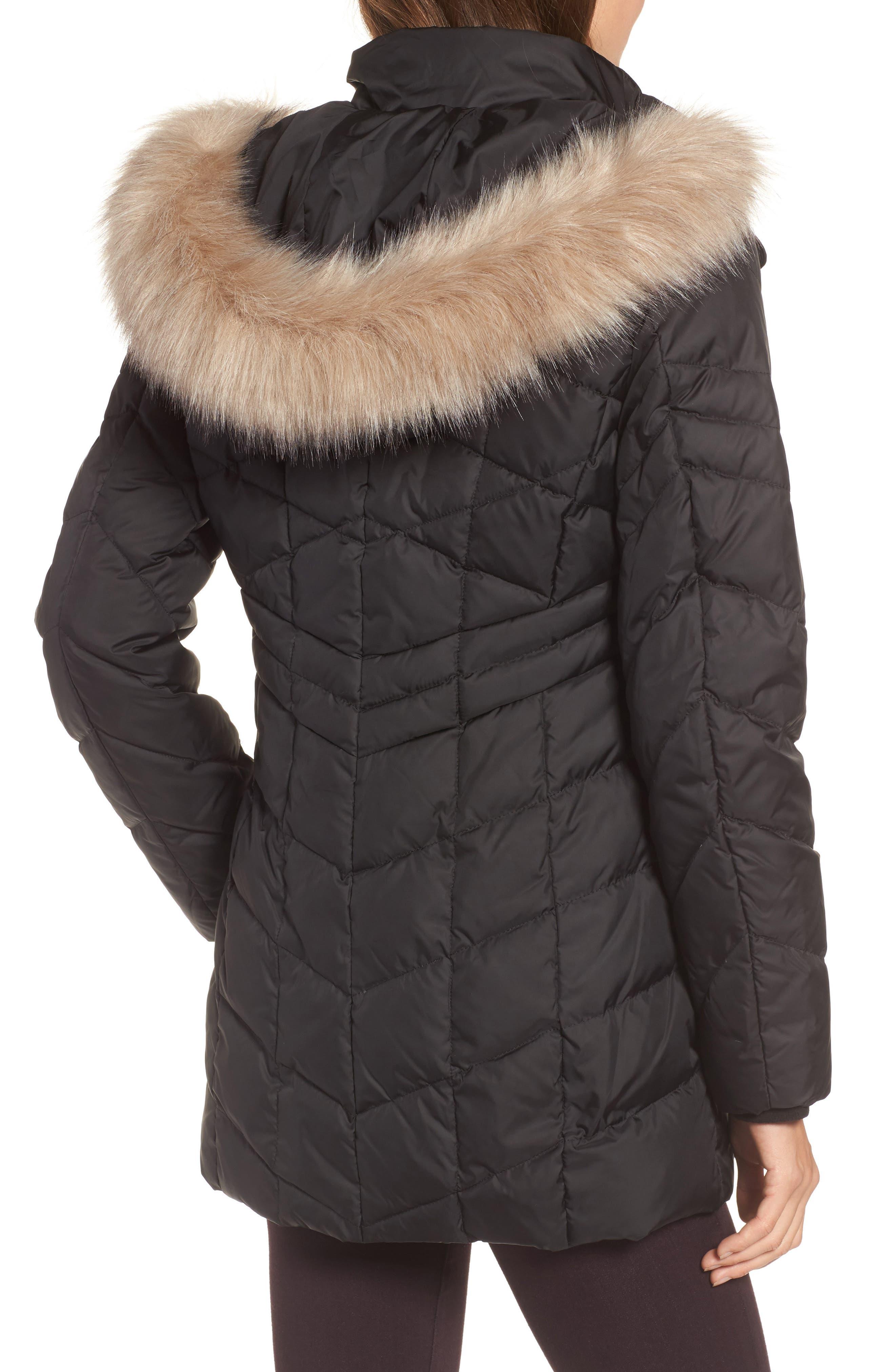 Marley 30 Coat with Detachable Faux Fur,                             Alternate thumbnail 2, color,                             001