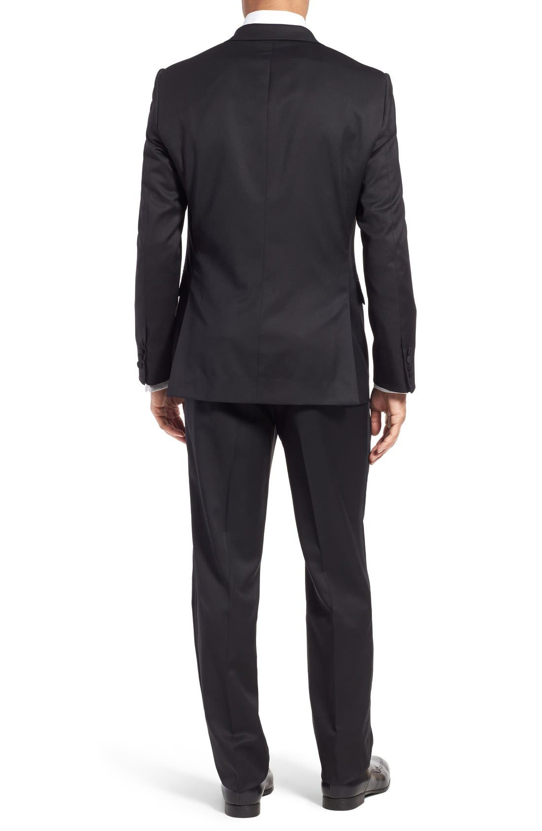Classic Fit Wool Tuxedo,                             Alternate thumbnail 6, color,                             001