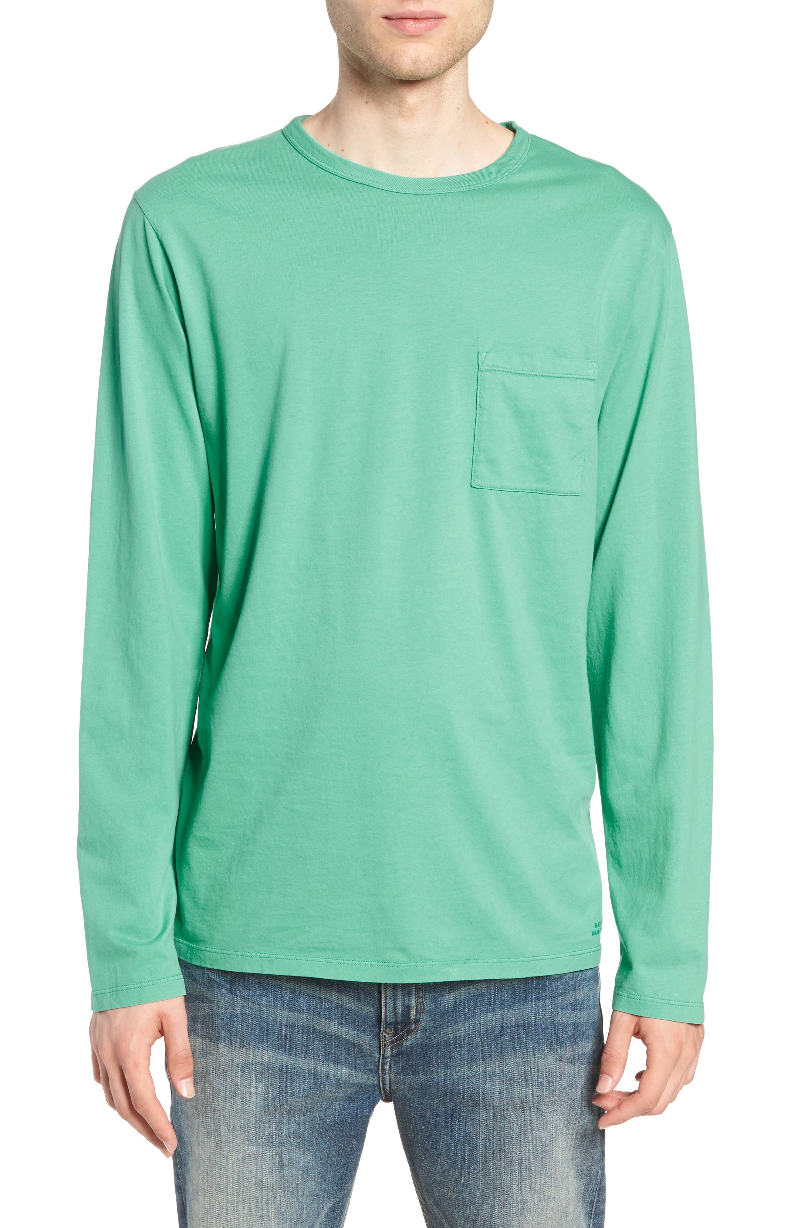 James Pima Long Sleeve Pocket T-Shirt,                             Main thumbnail 1, color,                             SEAFOAM GREEN