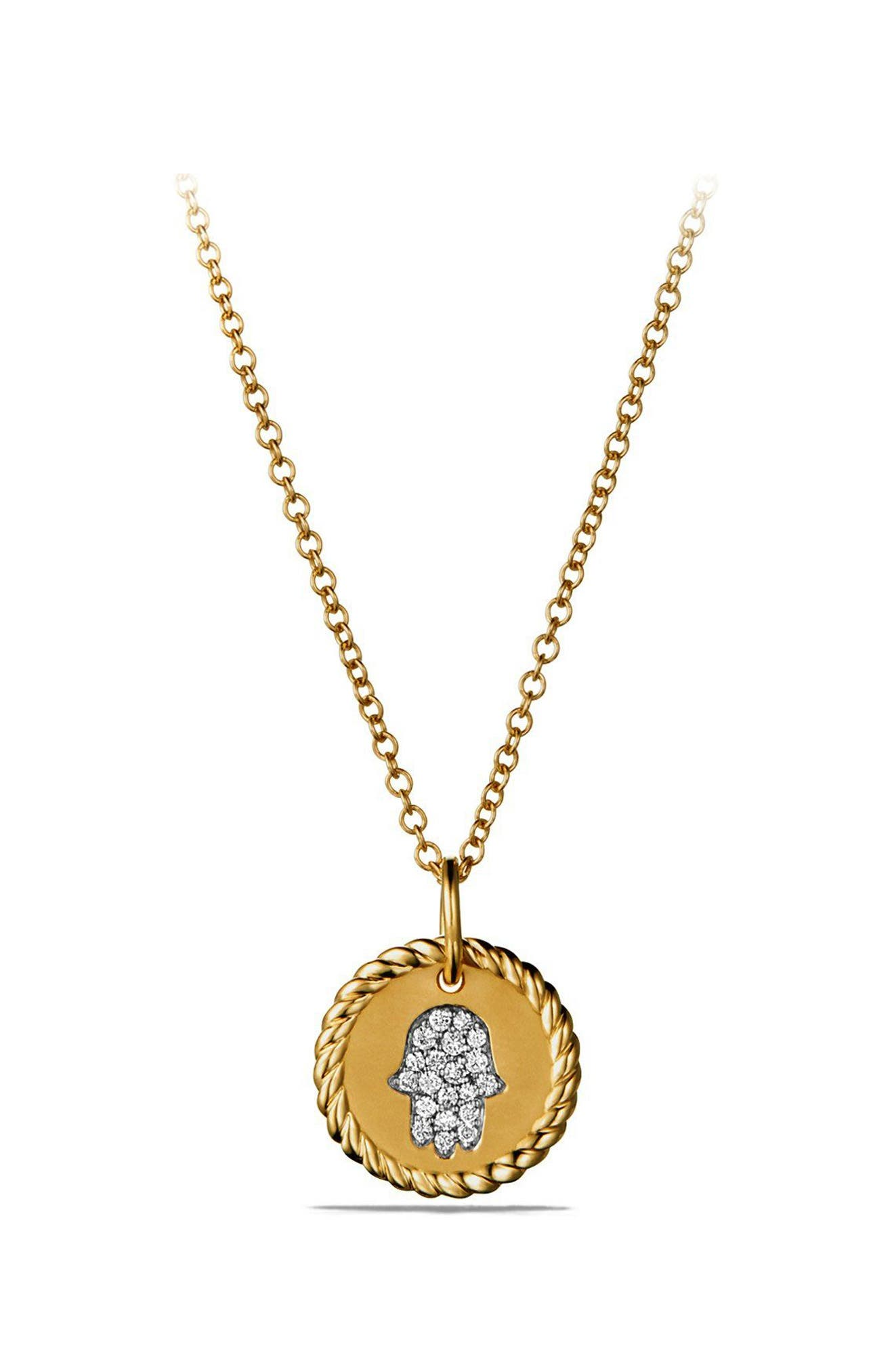 'Cable Collectibles' Pavé Charm with Diamonds in Gold,                         Main,                         color, GOLD