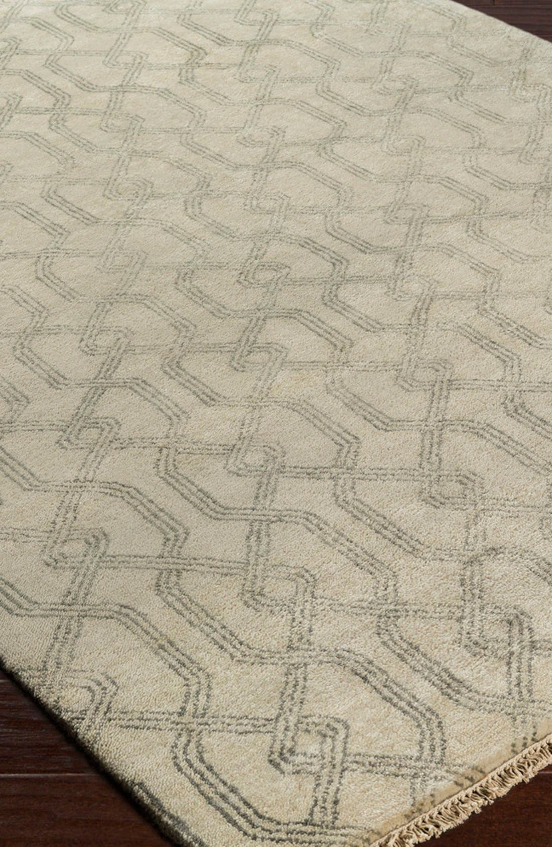 'Stanton' Wool & Cotton Rug,                             Alternate thumbnail 4, color,                             020