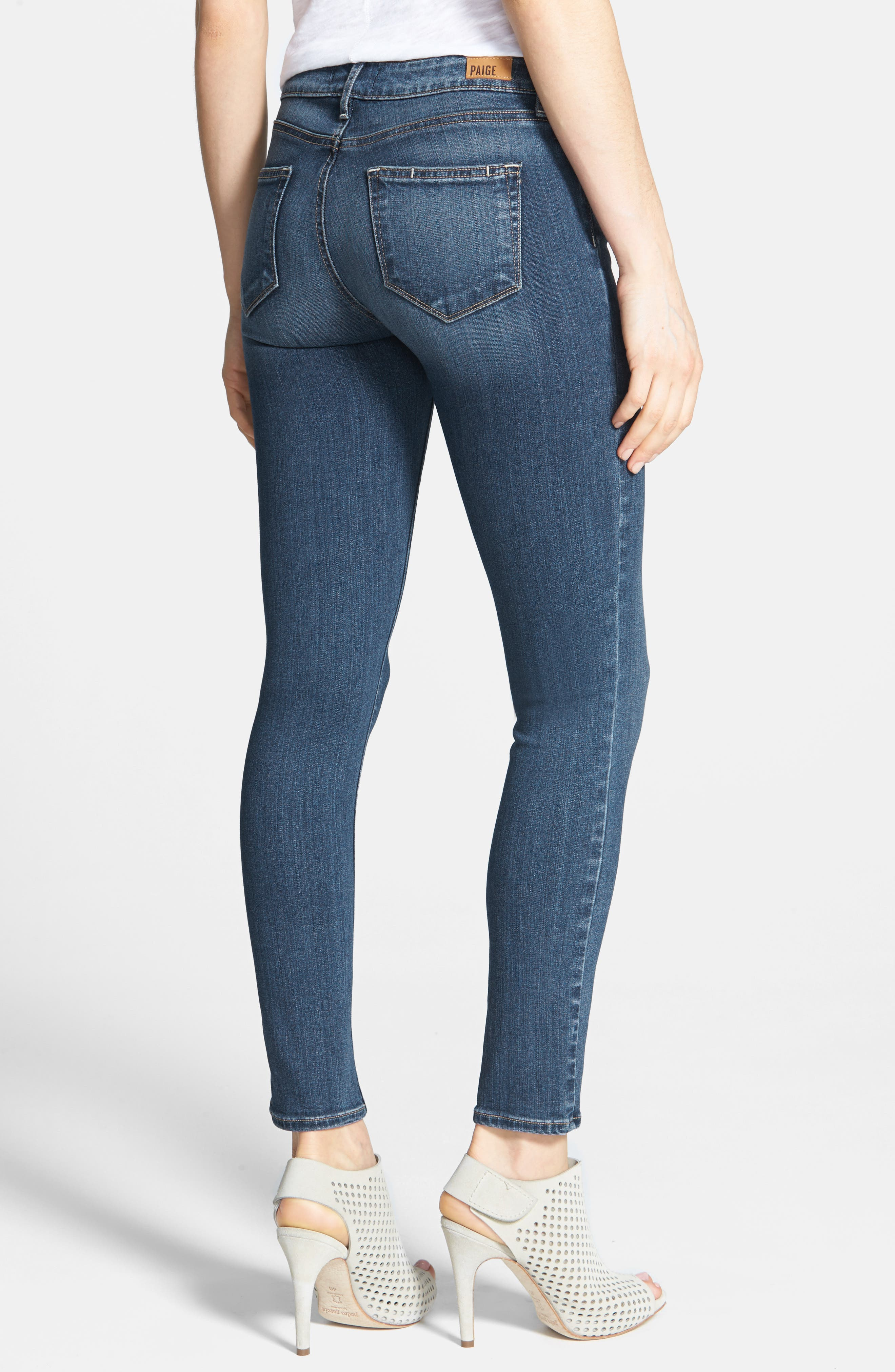 Transcend - Verdugo Ankle Skinny Jeans,                             Alternate thumbnail 3, color,                             TRISTAN