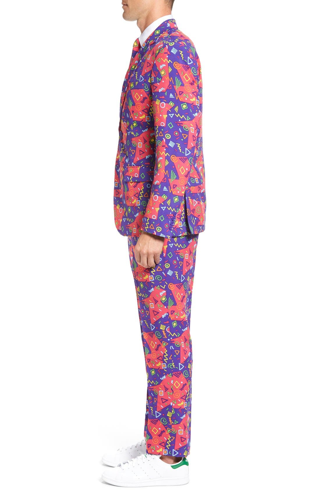 'The Fresh Prince' Trim Fit Two-Piece Suit with Tie,                             Alternate thumbnail 3, color,