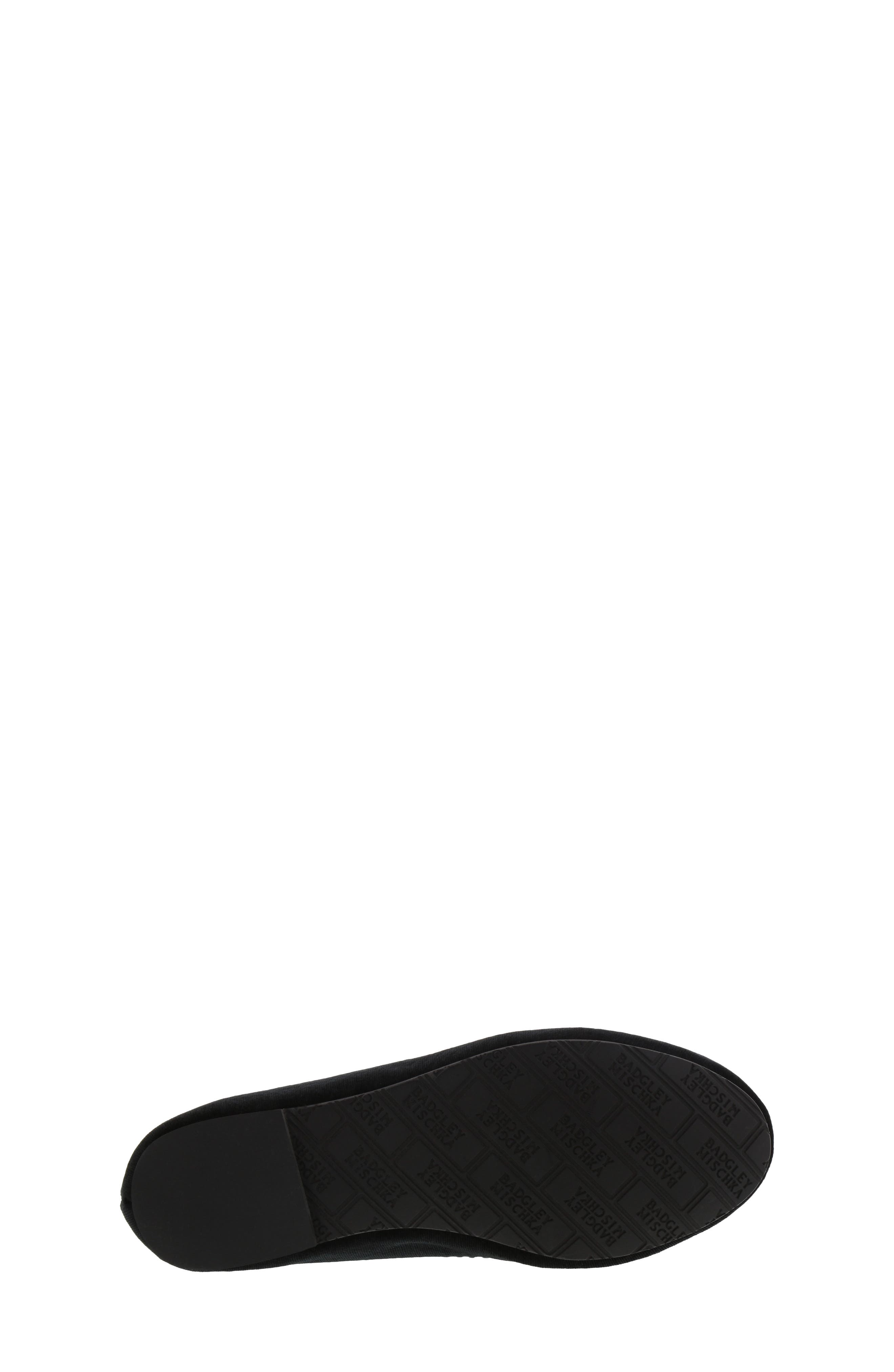 Badgley Mischka Amber Scallop Embellished Flat,                             Alternate thumbnail 6, color,                             BLACK