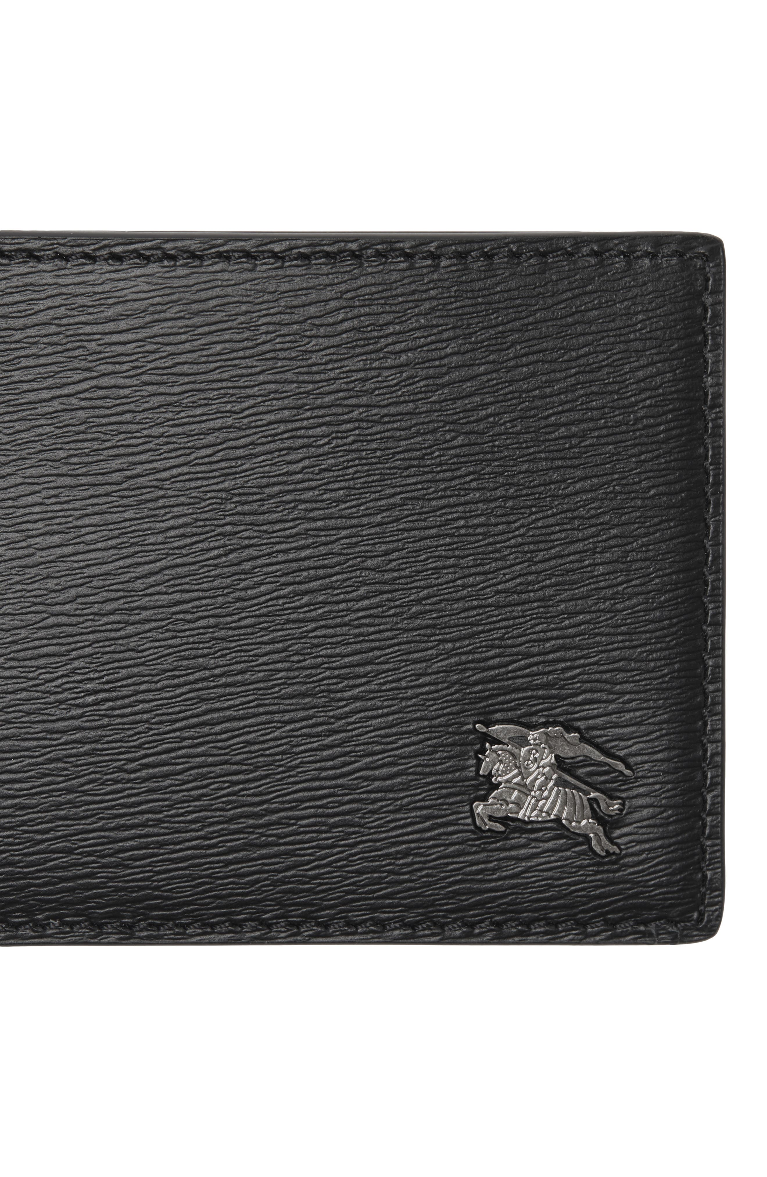 Leather Bifold Wallet,                             Alternate thumbnail 4, color,                             BLACK