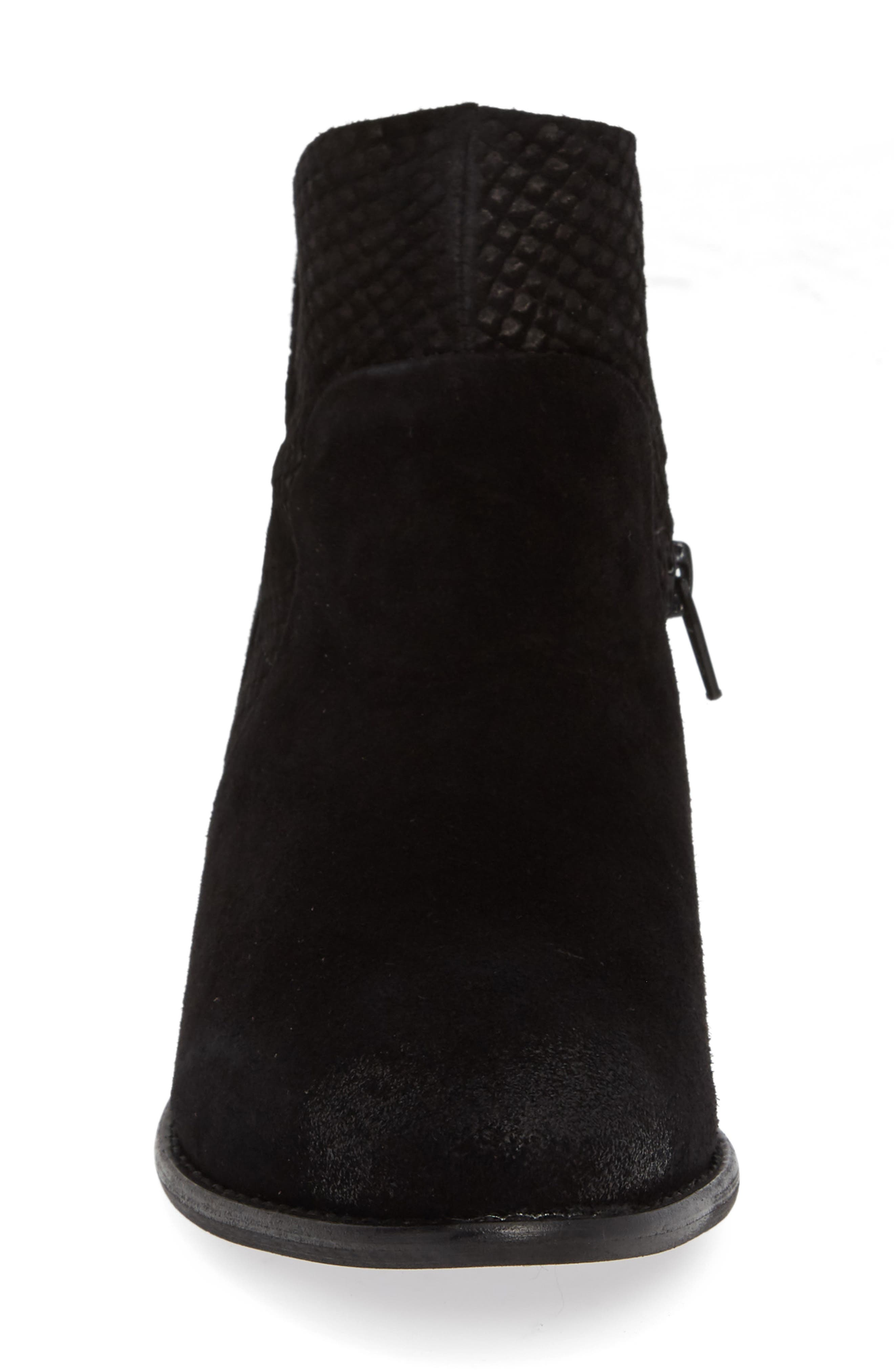 Score Bootie,                             Alternate thumbnail 4, color,                             BLACK SUEDE