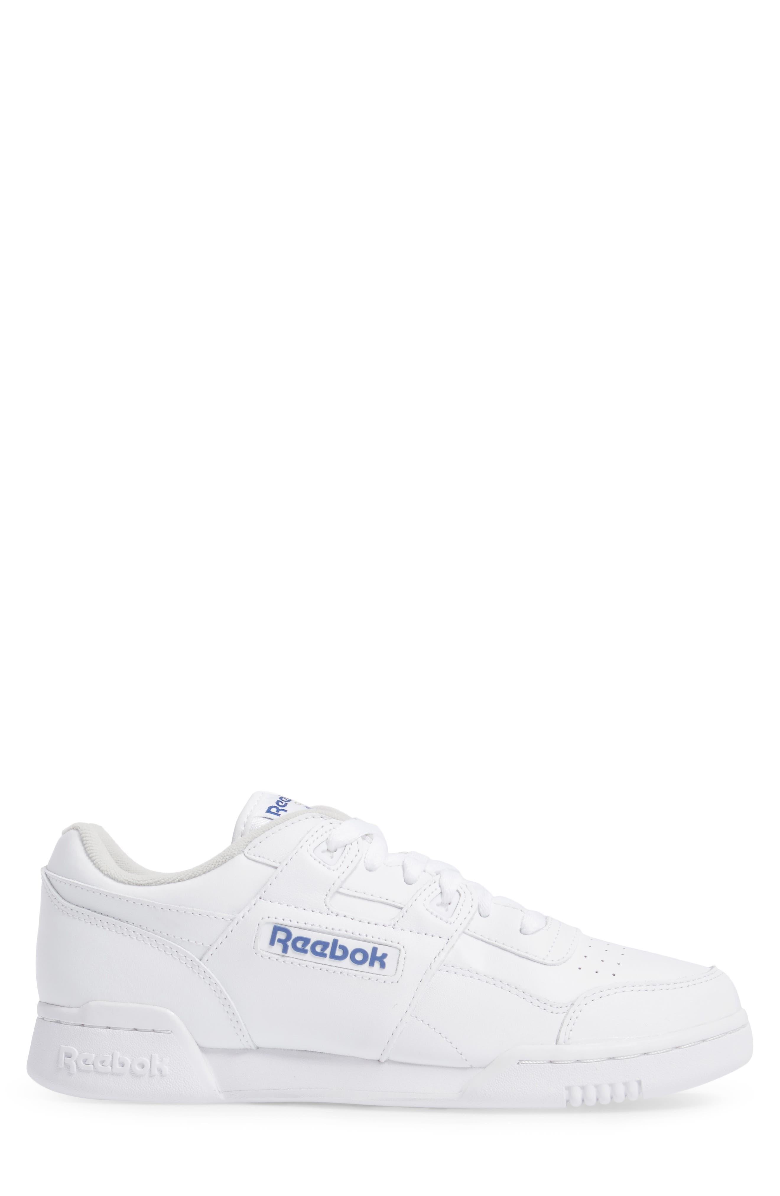 Workout Plus Sneaker,                             Alternate thumbnail 3, color,                             WHITE/ ROYAL