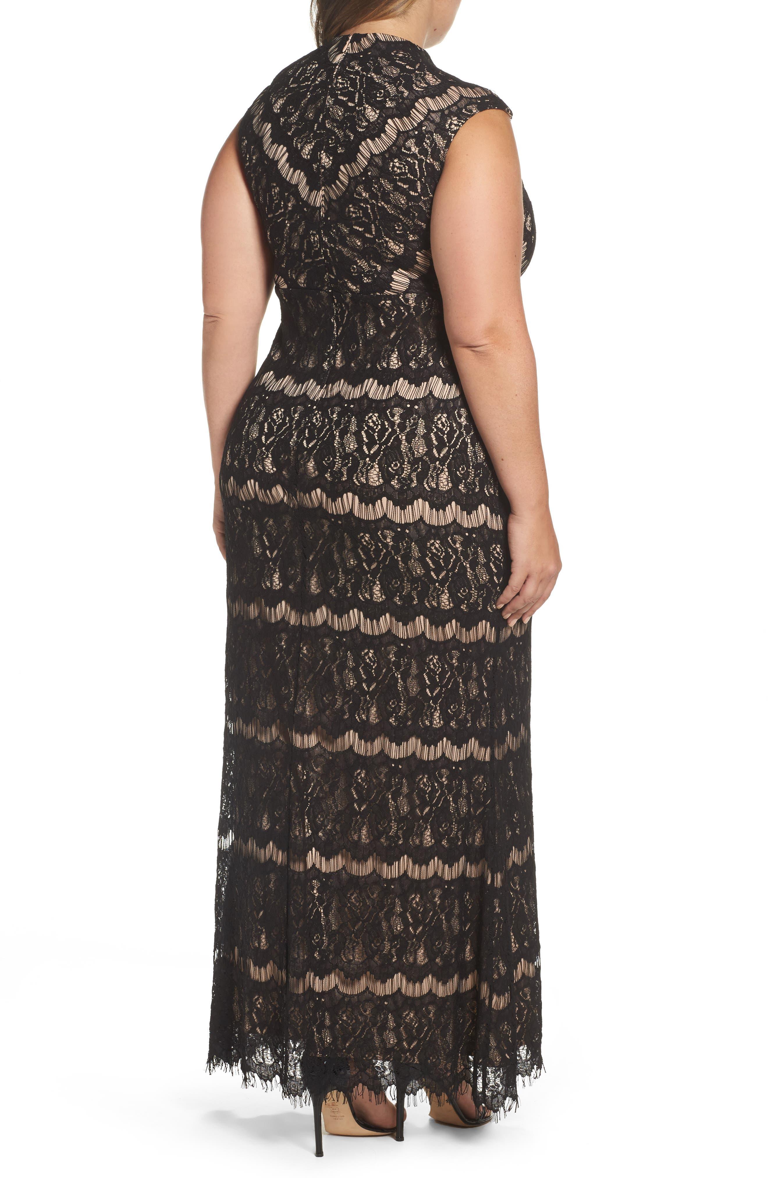 Lace Empire Gown,                             Alternate thumbnail 2, color,                             003