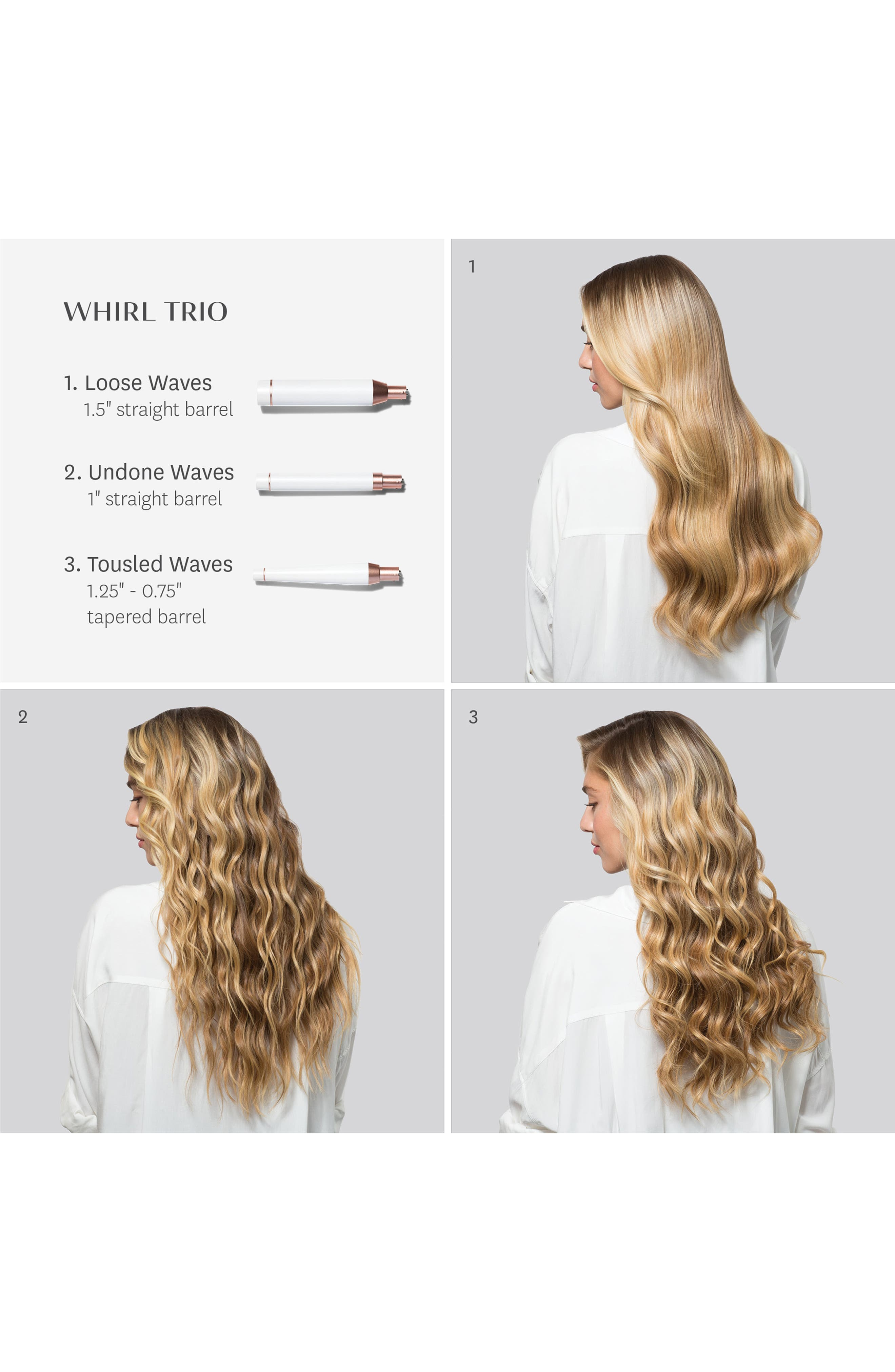 Whirl Trio Interchangeable Styling Wand Set,                             Alternate thumbnail 3, color,                             NO COLOR