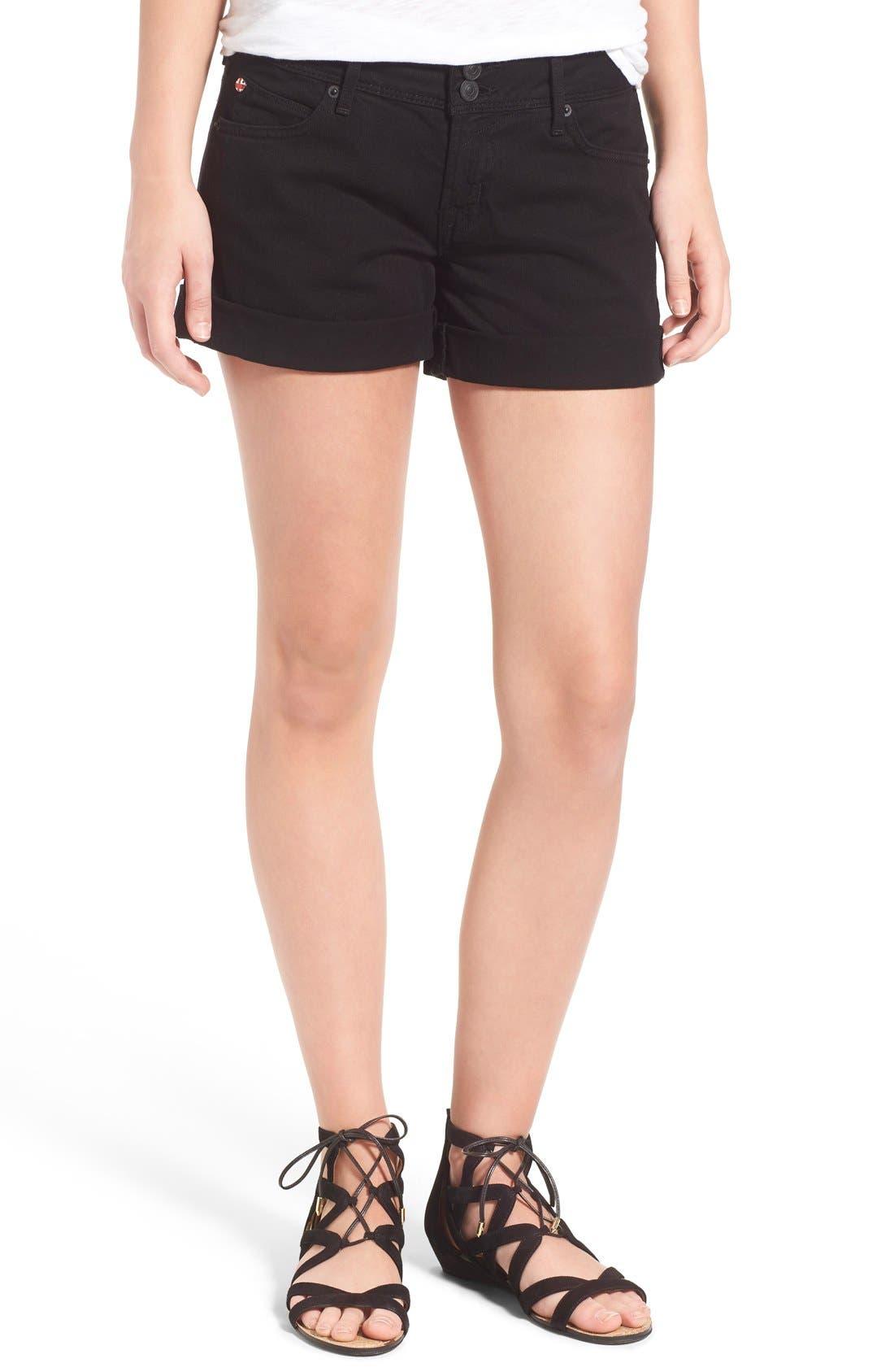 Croxley Cuffed Denim Shorts, Main, color, 001