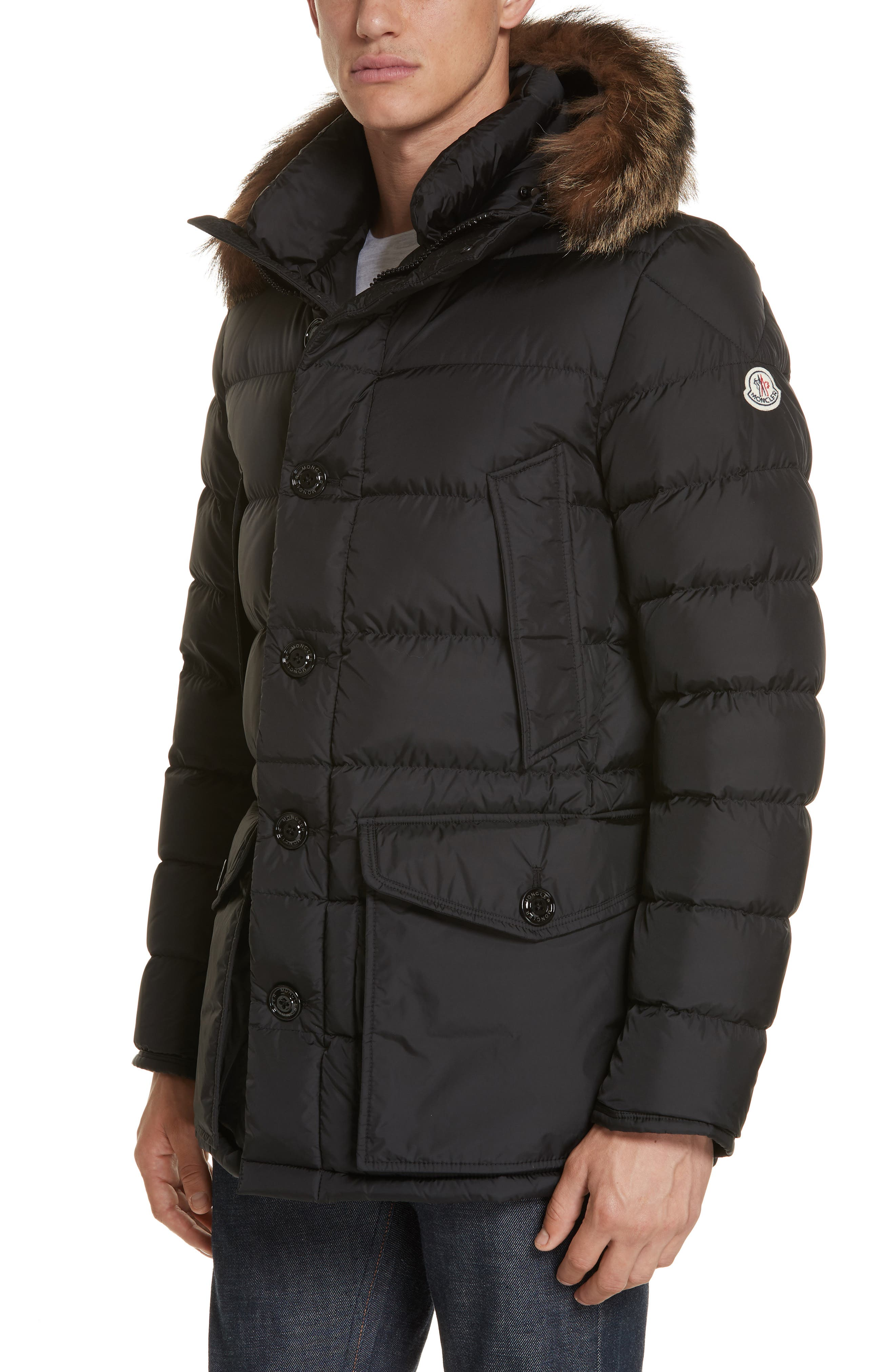 Cluny Giubbotto Down Parka with Genuine Coyote Fur Trim,                             Main thumbnail 1, color,                             001