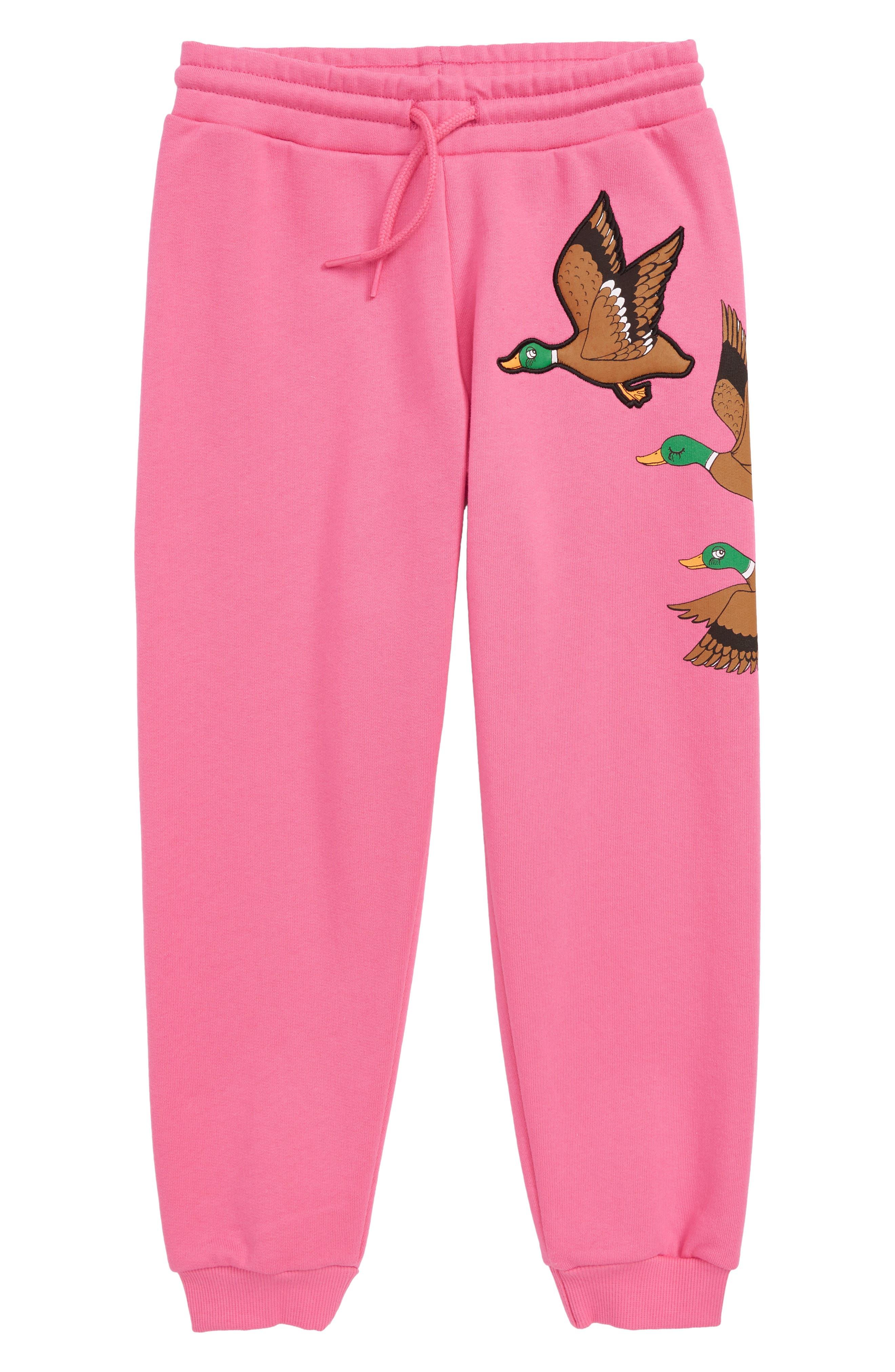 Ducks Organic Cotton Sweatpants,                             Main thumbnail 1, color,                             CERISE