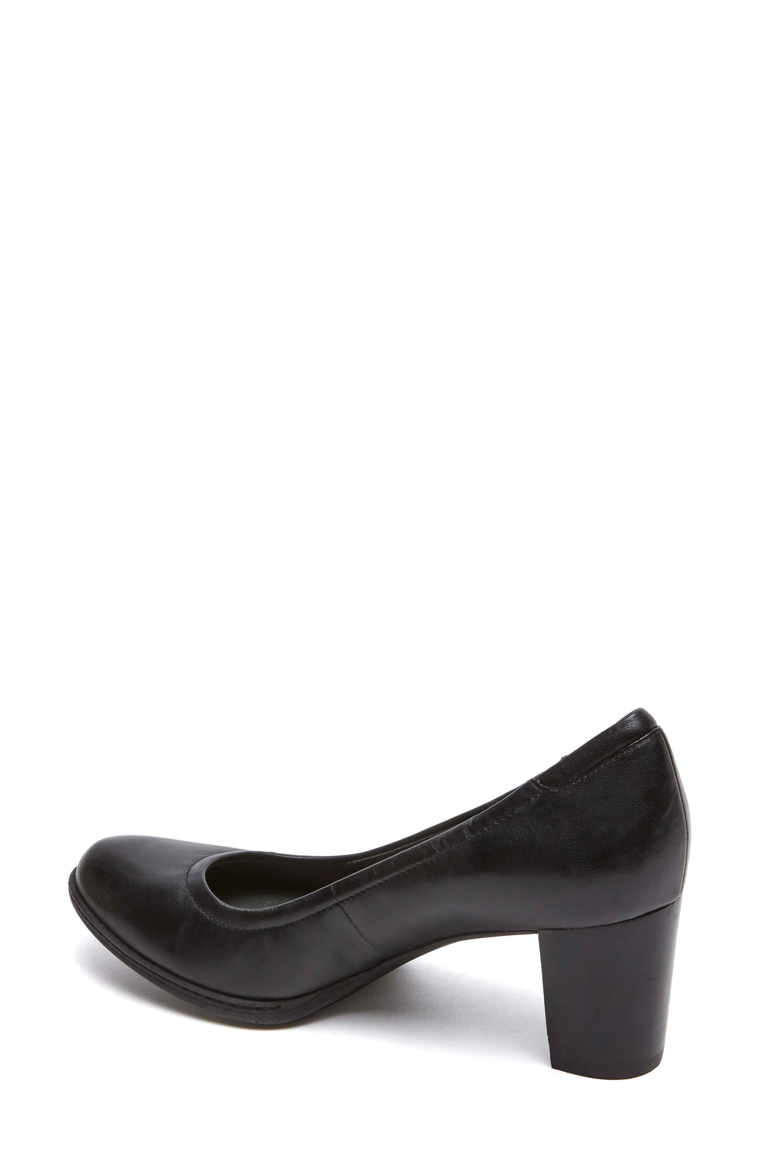 Chaya Round Toe Pump,                             Alternate thumbnail 2, color,                             BLACK LEATHER