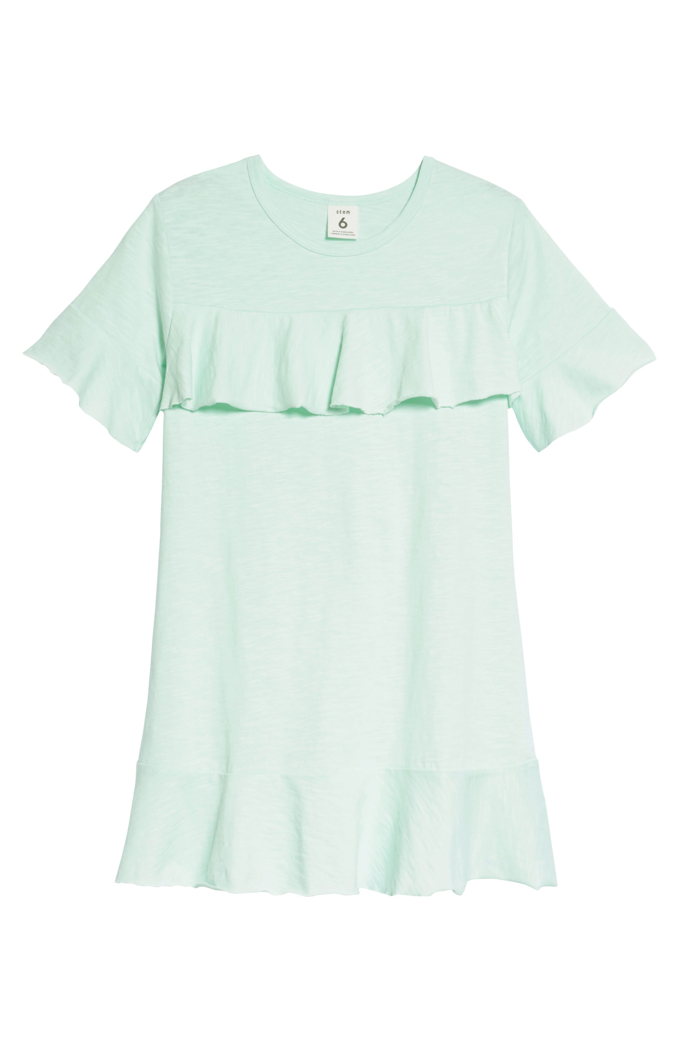 Ruffle Raw Edge Dress,                         Main,                         color, 330