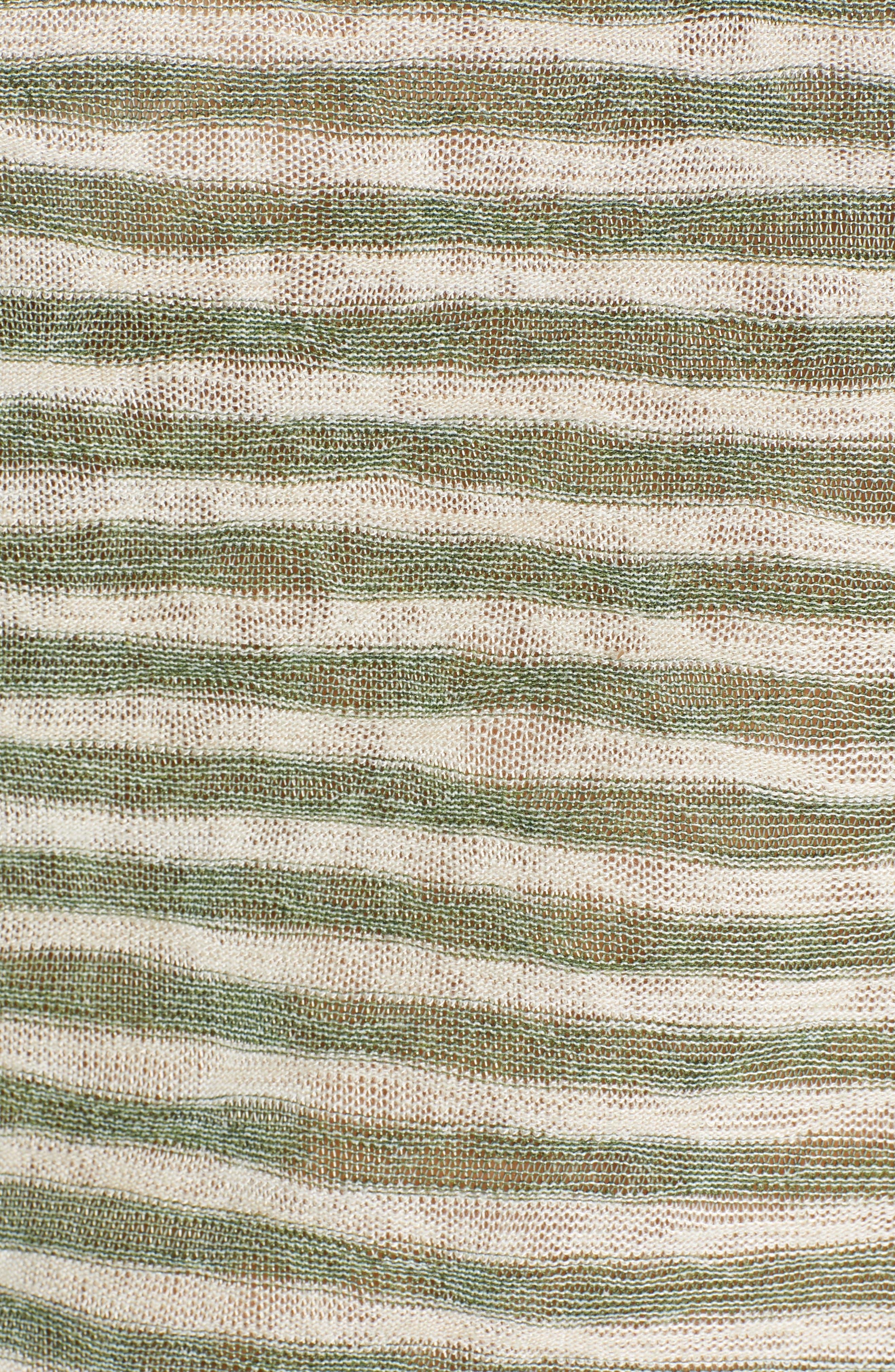 Tashi Stripe Reverse Seam Tee,                             Alternate thumbnail 5, color,                             CAPERS/ ALMOND