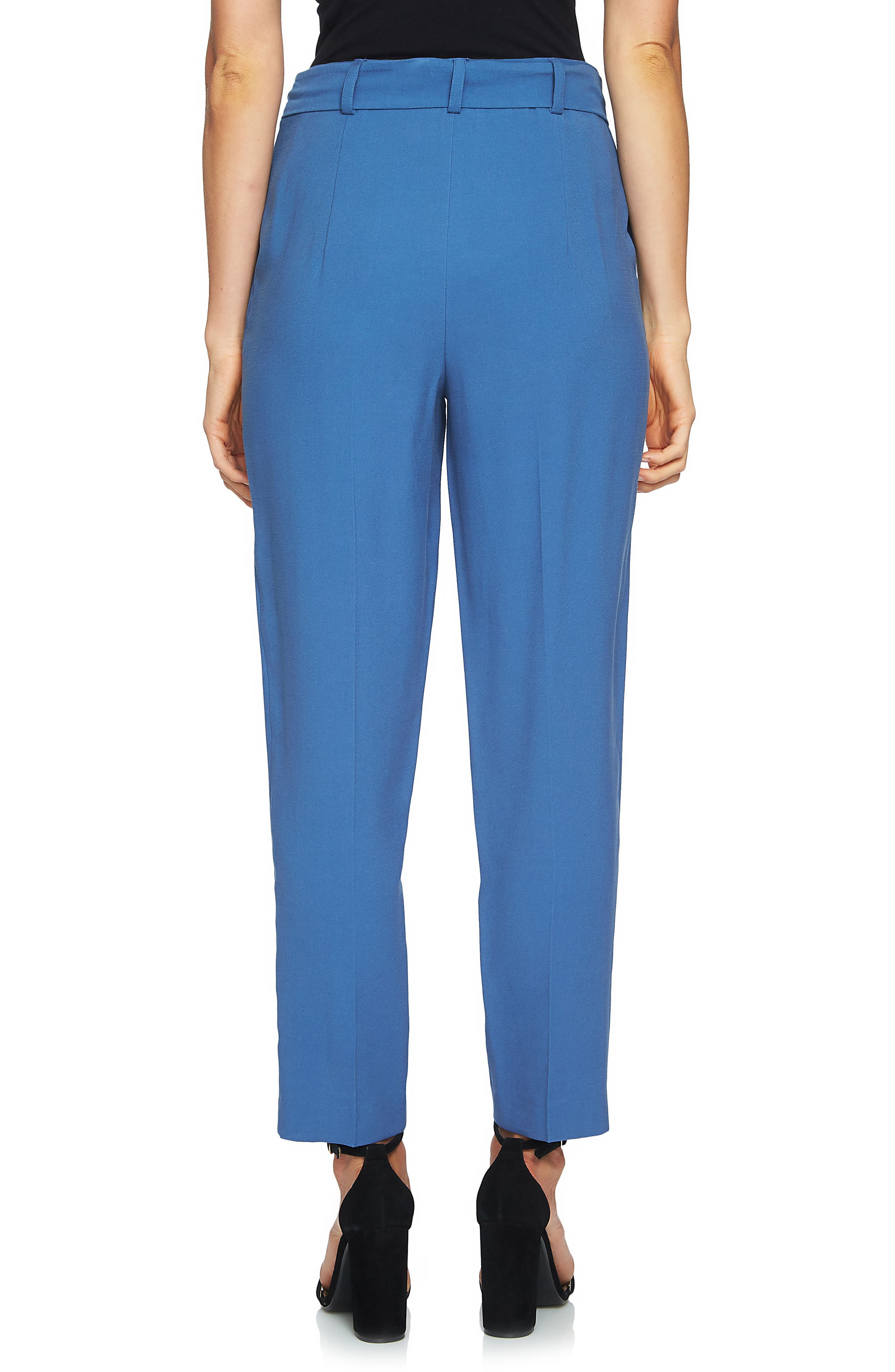 Tie Waist Tapered Trousers,                             Alternate thumbnail 4, color,