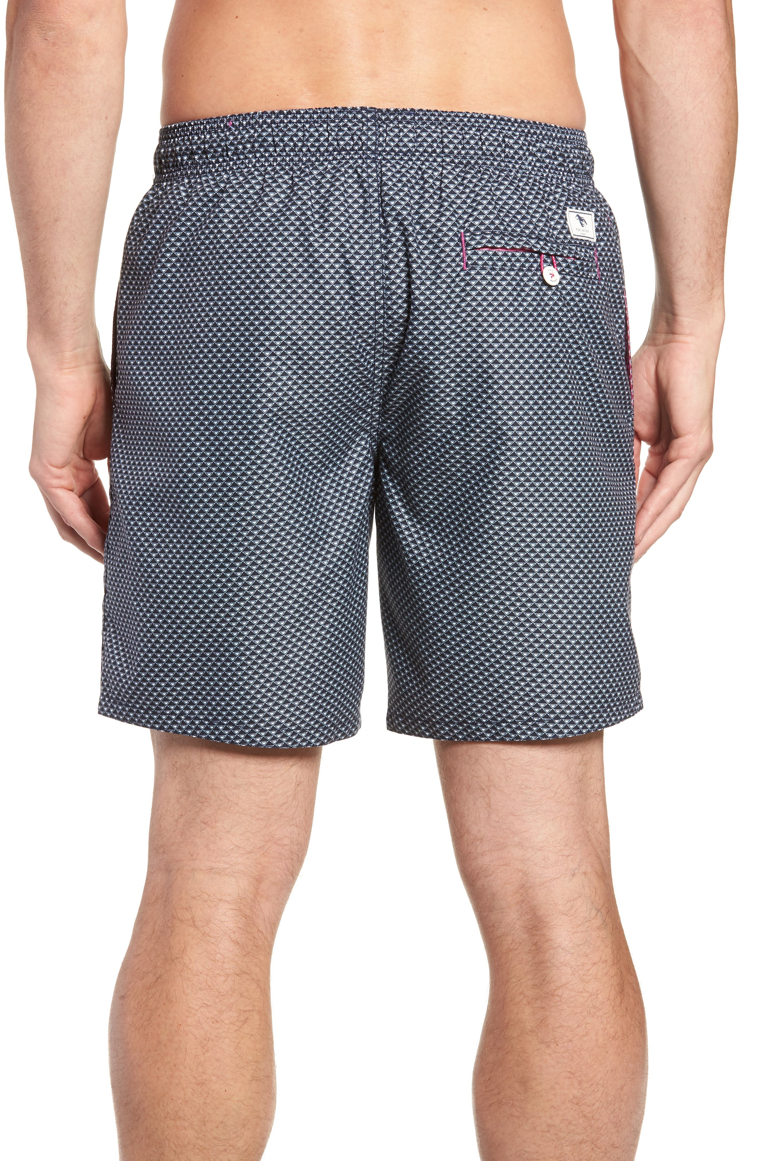 Doree Geo Print Swim Trunks,                             Alternate thumbnail 2, color,                             410
