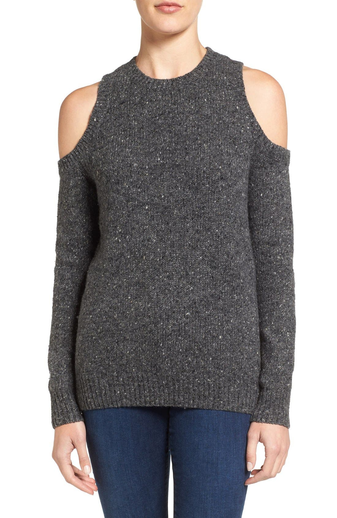 'Chapter' Cold Shoulder Sweater, Main, color, 020