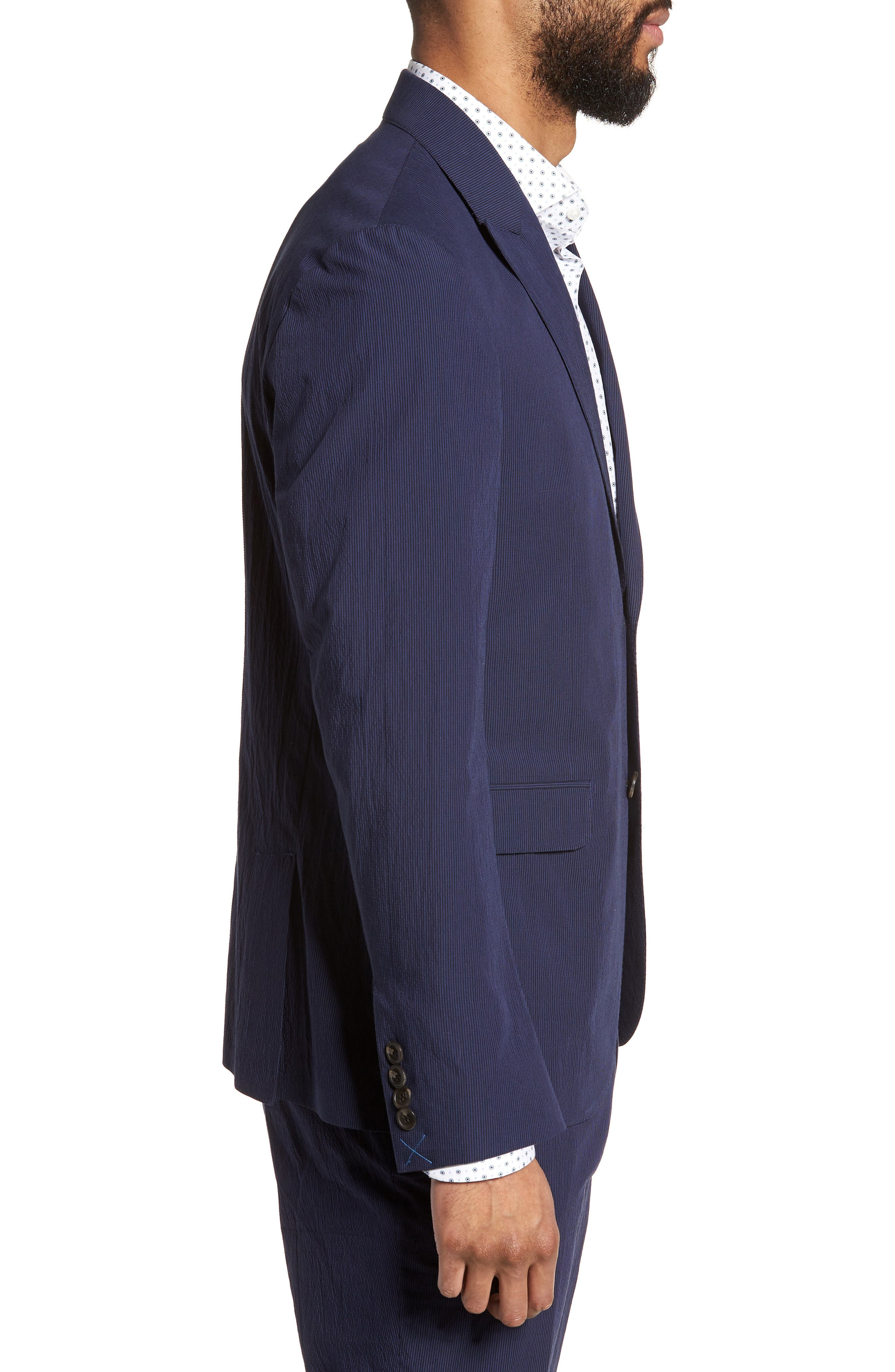 Volante Seersucker Suit Jacket,                             Alternate thumbnail 3, color,                             400
