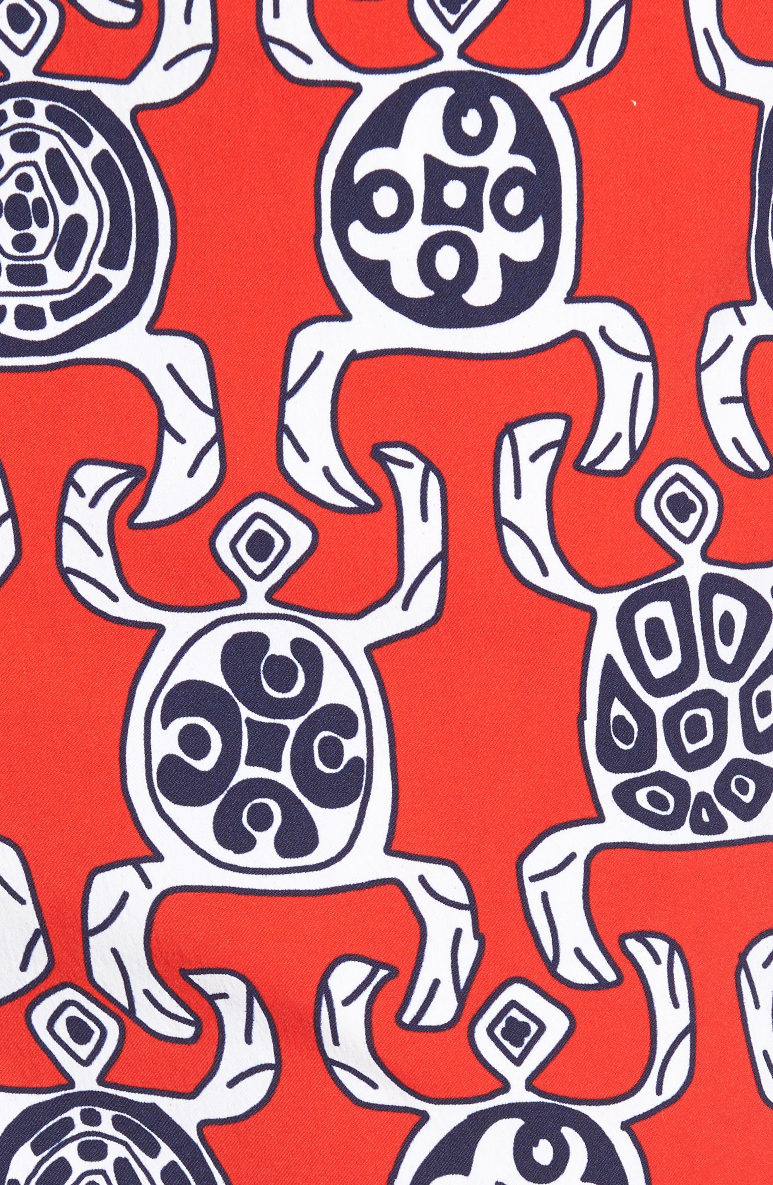Primitive Turtles Swim Trunks,                             Alternate thumbnail 5, color,                             POPPY RED