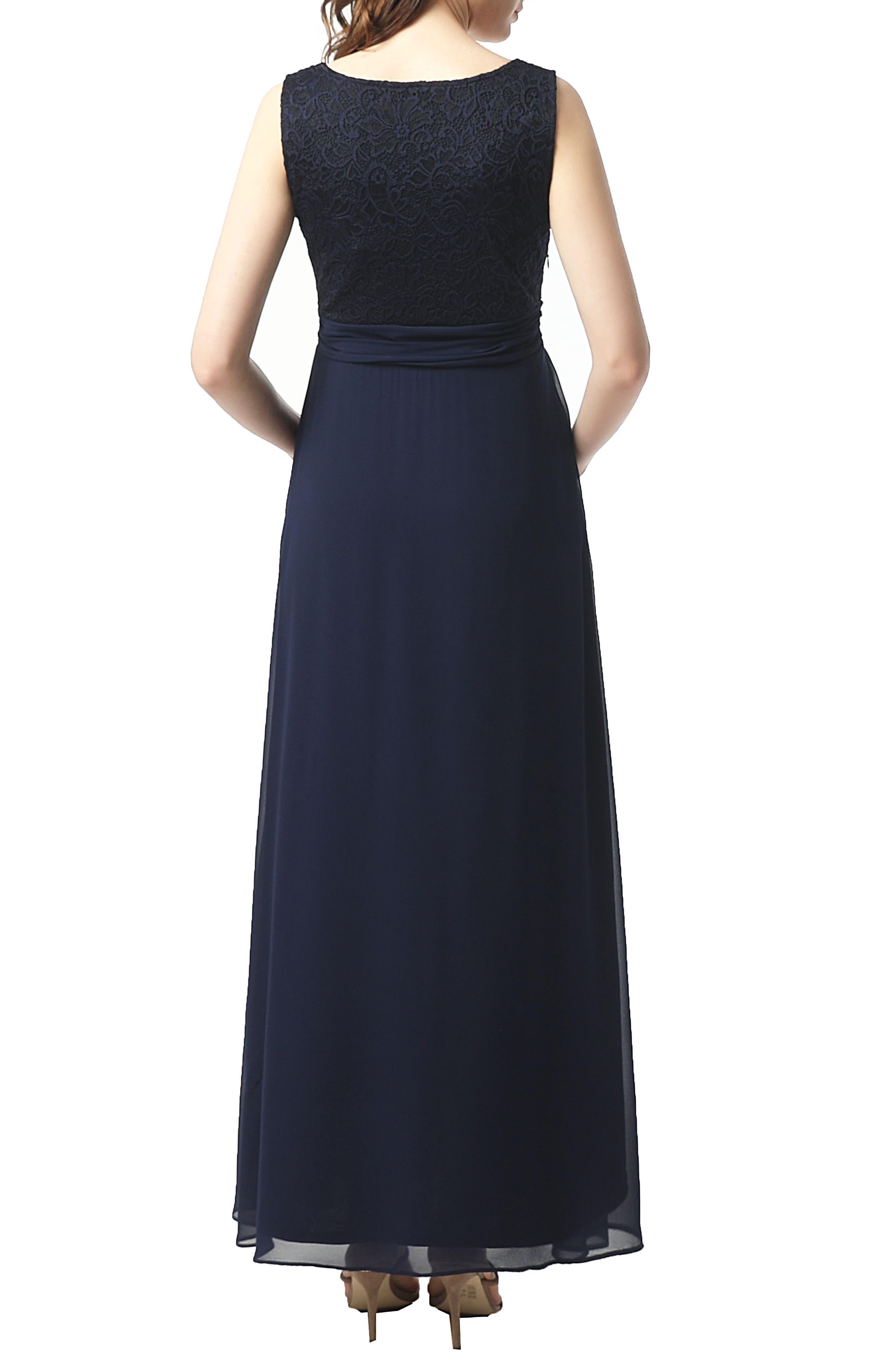 Kyra Maternity Maxi Dress,                             Alternate thumbnail 2, color,                             NAVY