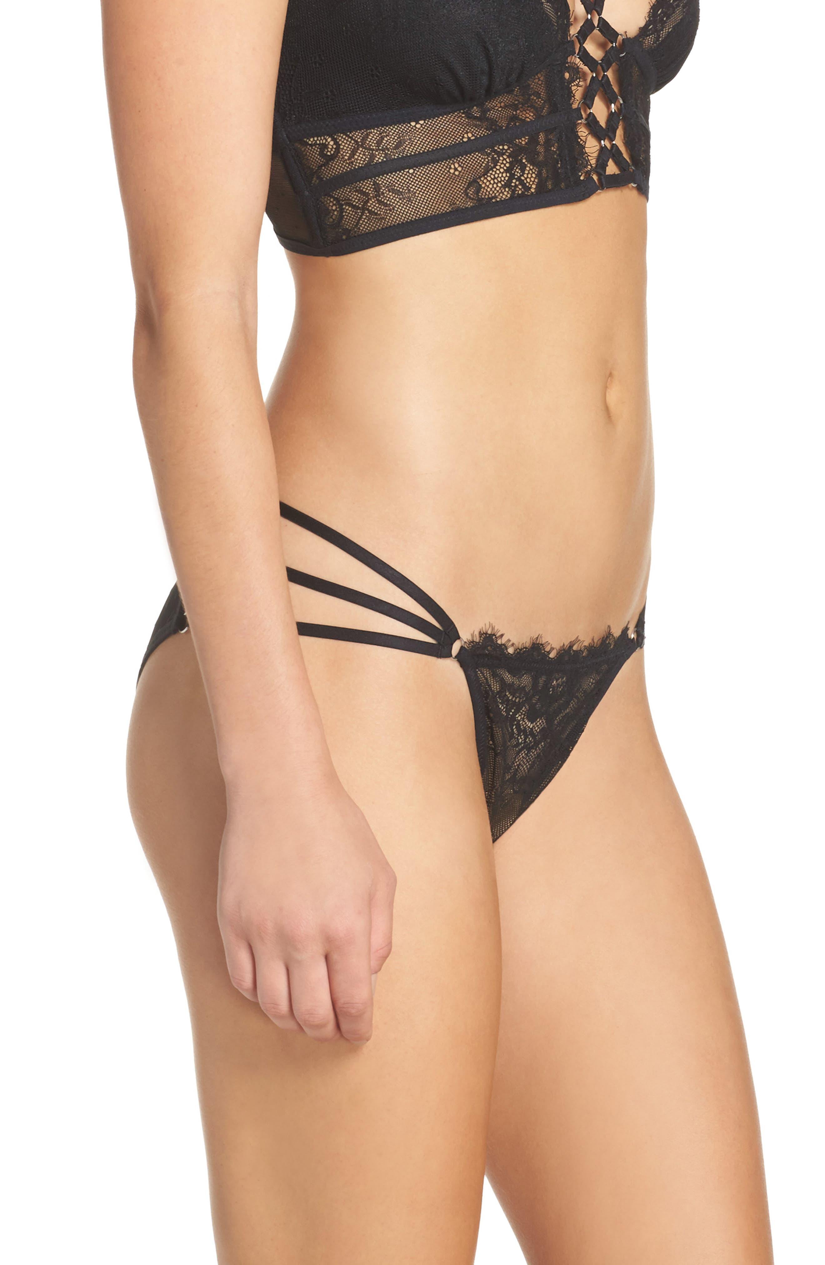 Constellation Lace Bikini,                             Alternate thumbnail 3, color,                             001