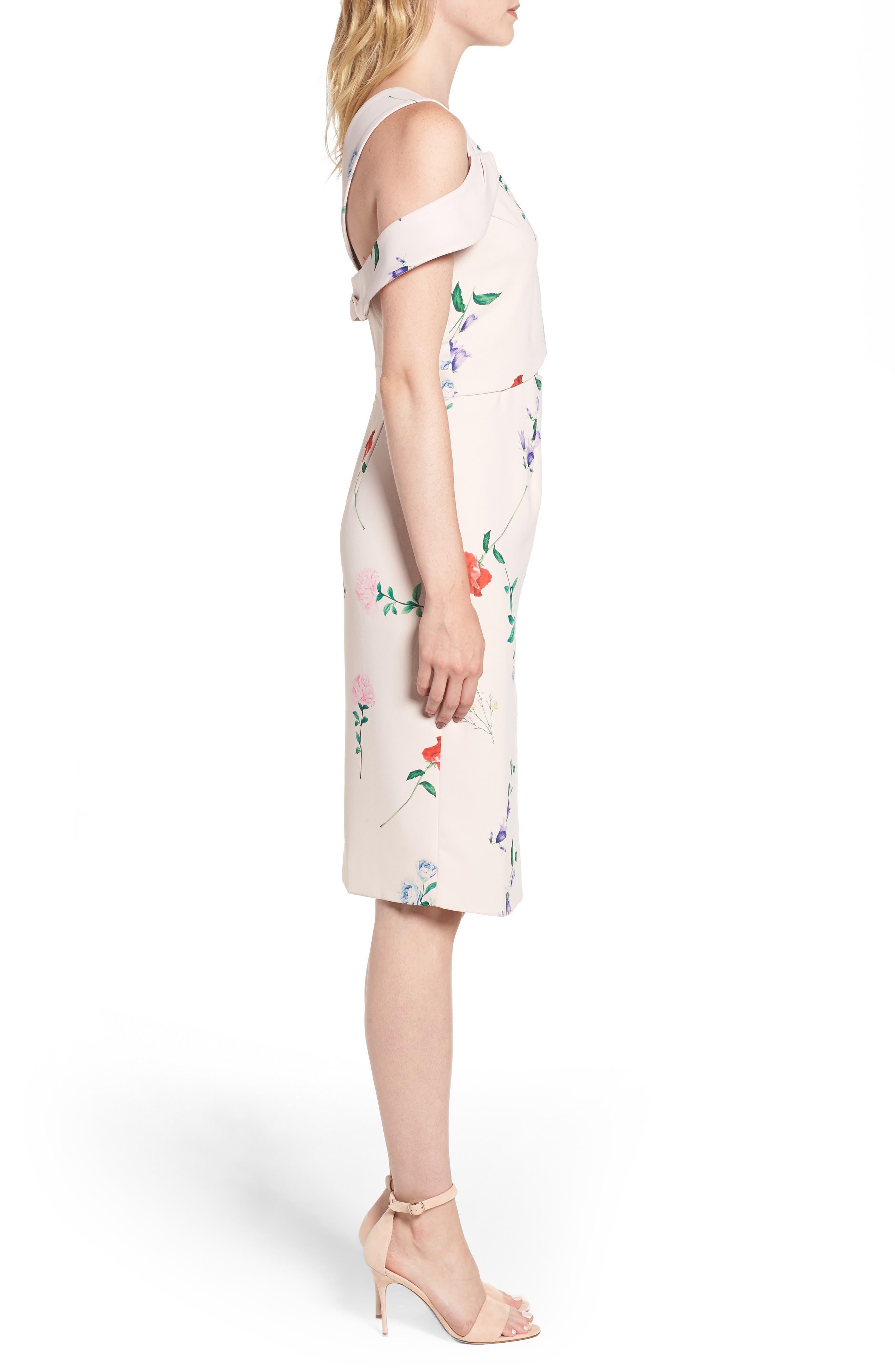Archibald Cold Shoulder Cutout Detail Dress,                             Alternate thumbnail 3, color,                             650
