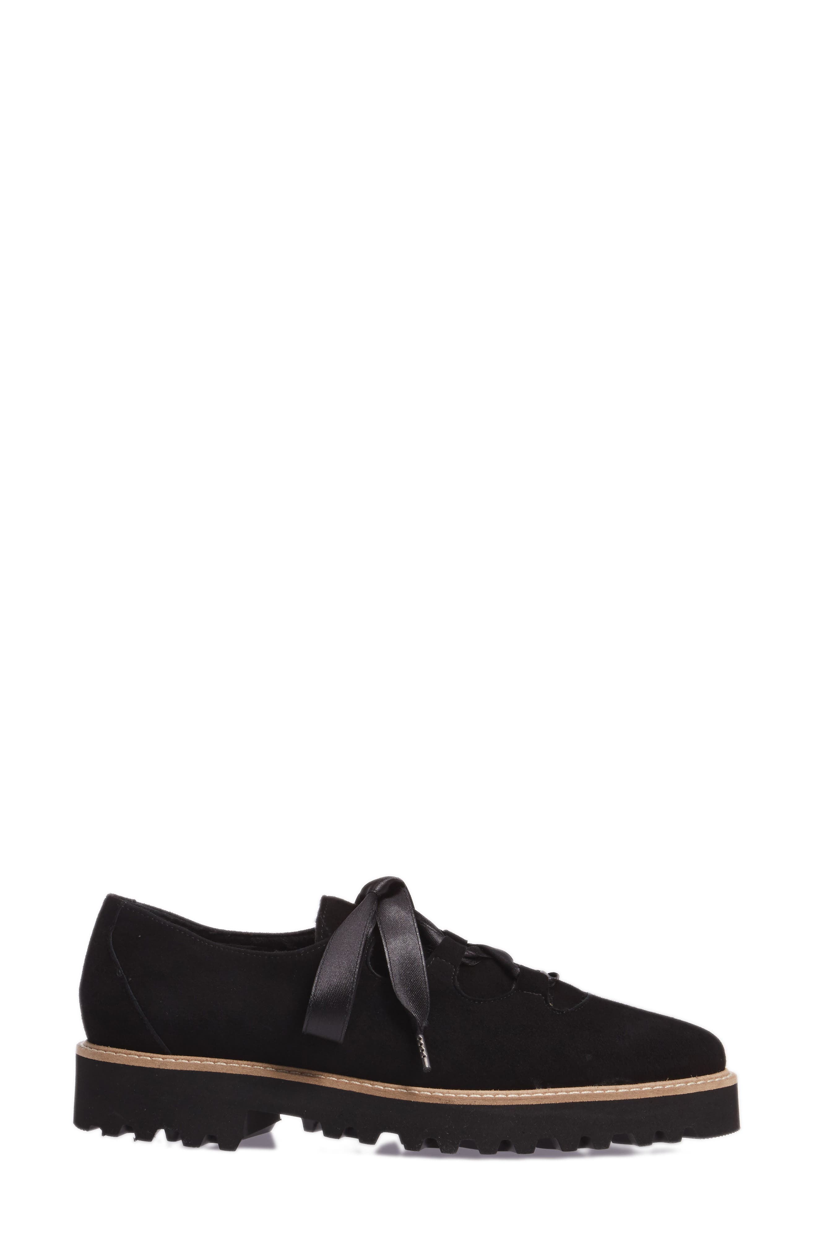 Daisy Water Resistant Oxford,                             Alternate thumbnail 3, color,                             ONYX SUEDE