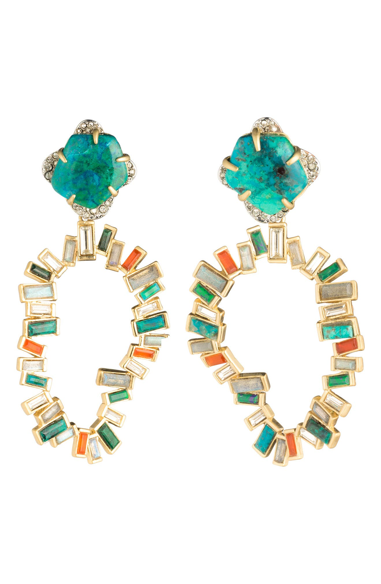 Dancing Baguette Large Clip Earrings,                         Main,                         color, 710