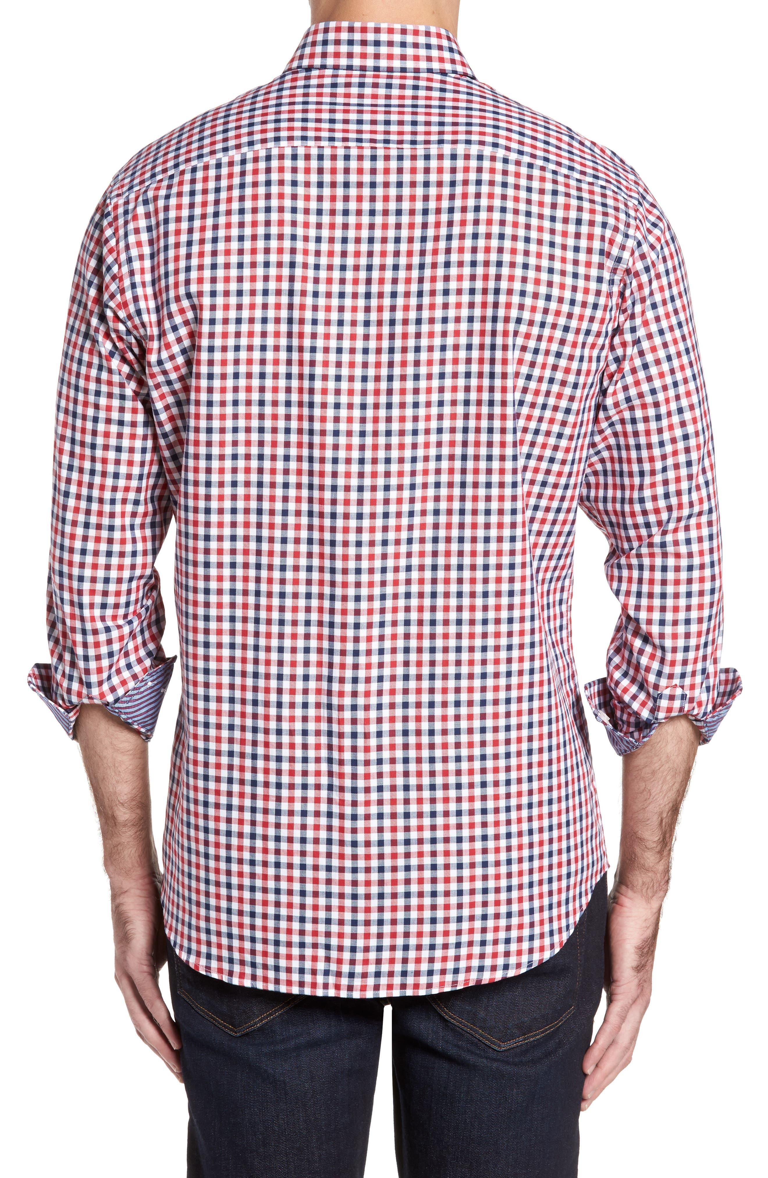 Bernice Check Sport Shirt,                             Alternate thumbnail 2, color,                             600