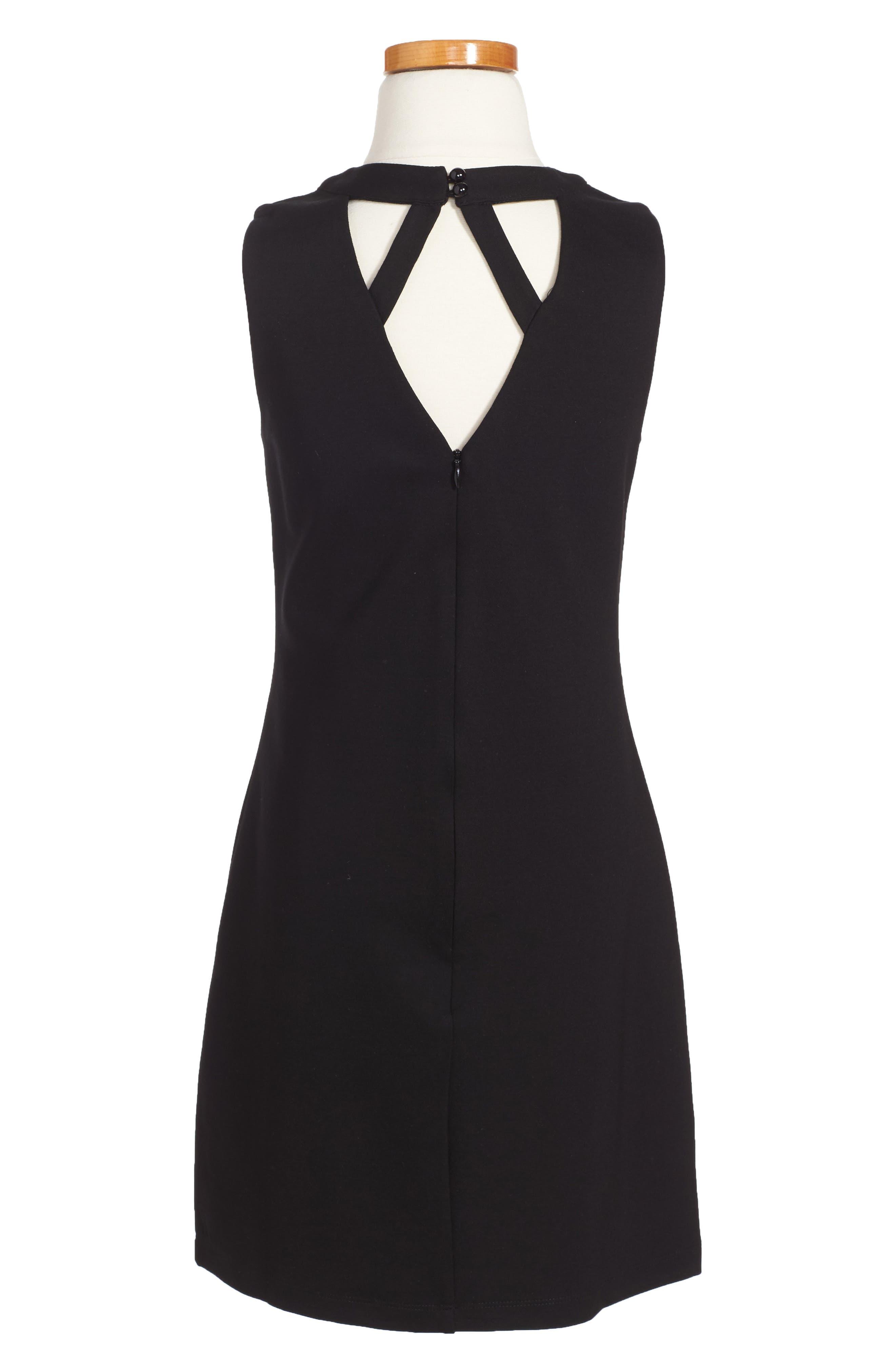 Ponti Dress,                             Alternate thumbnail 2, color,                             001
