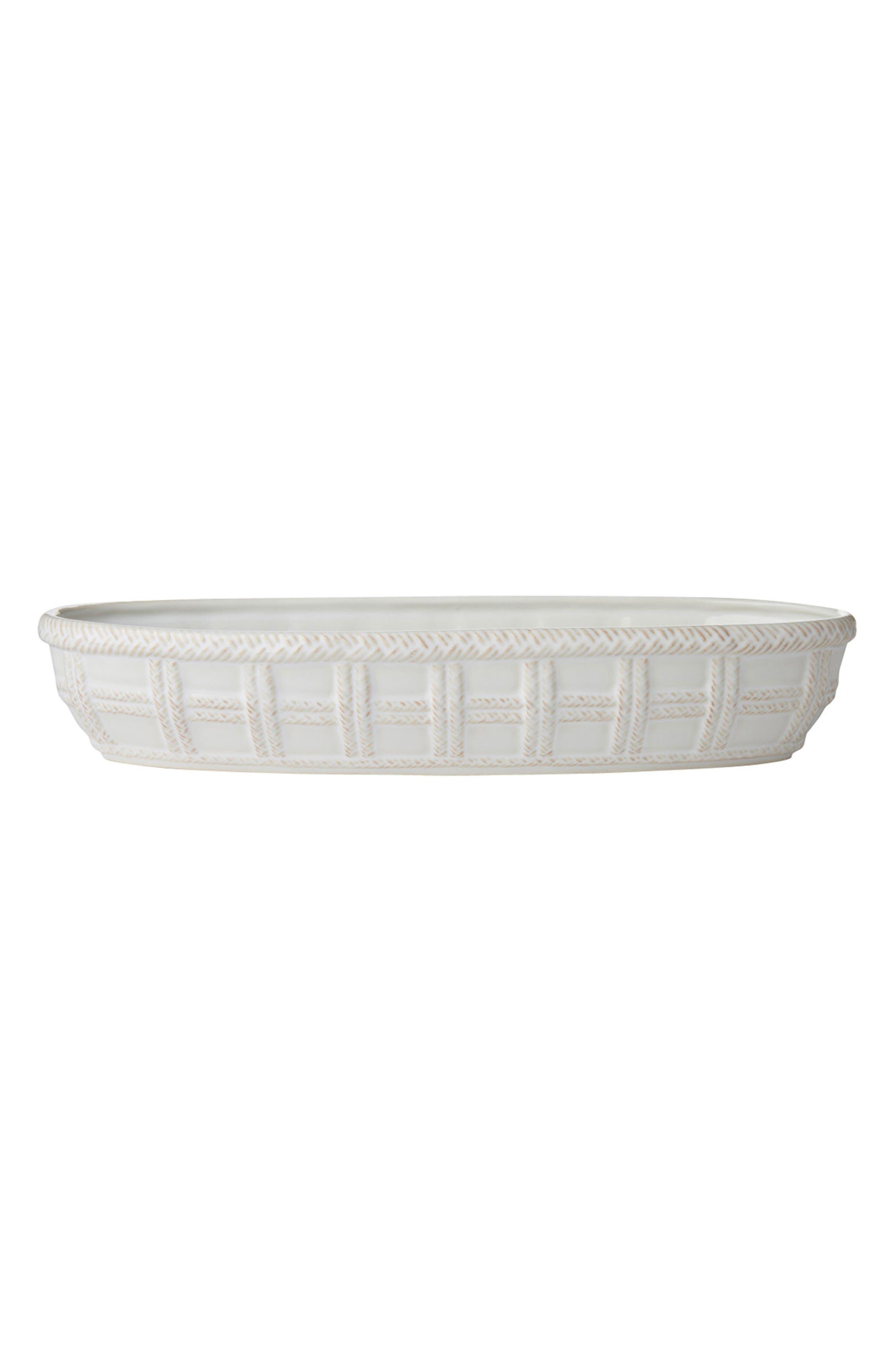 Le Panier Ceramic Bread Basket,                             Main thumbnail 1, color,                             WHITEWASH