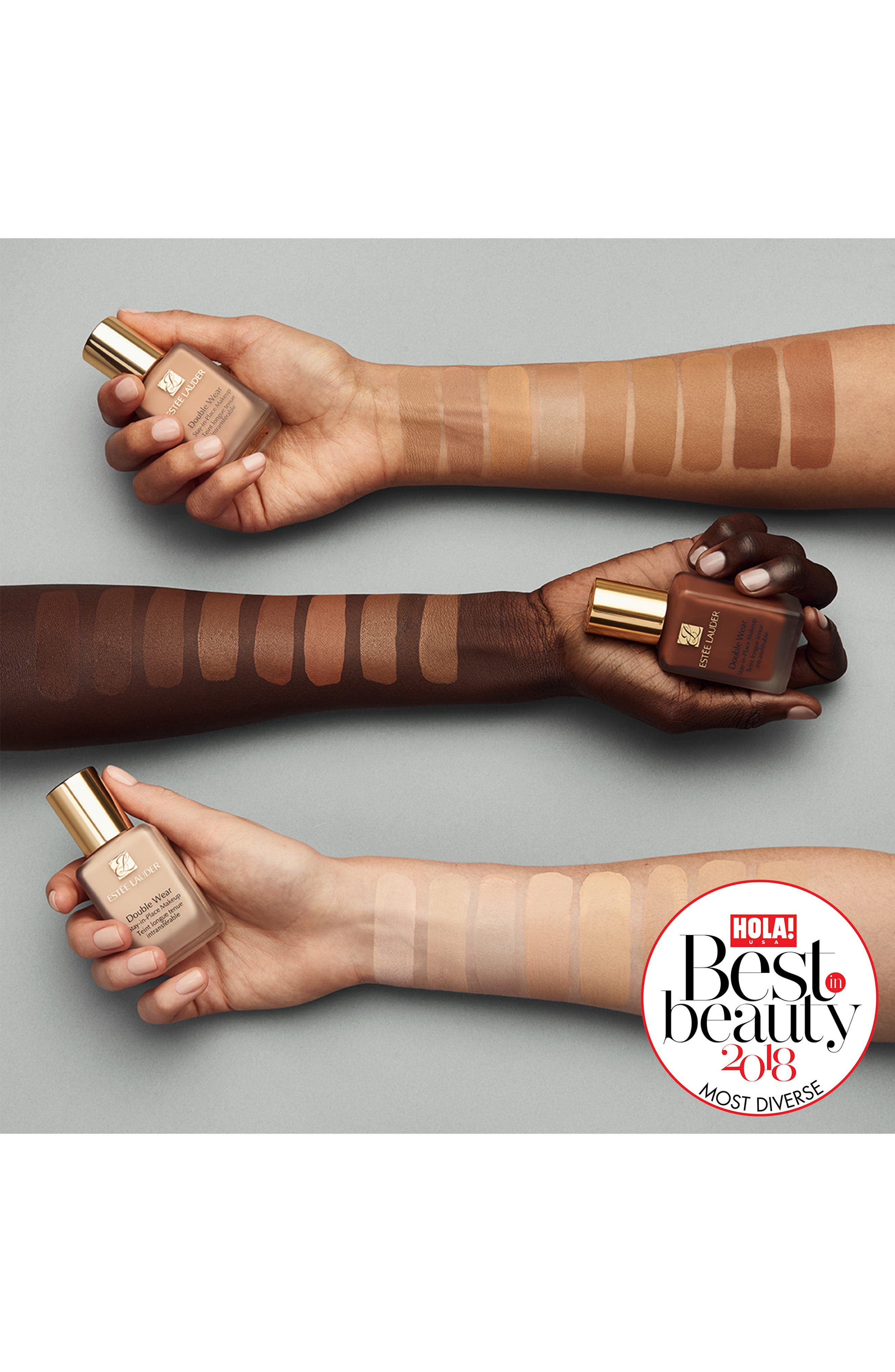 Double Wear Stay-in-Place Liquid Makeup,                             Alternate thumbnail 4, color,                             5C1 RICH CHESTNUT