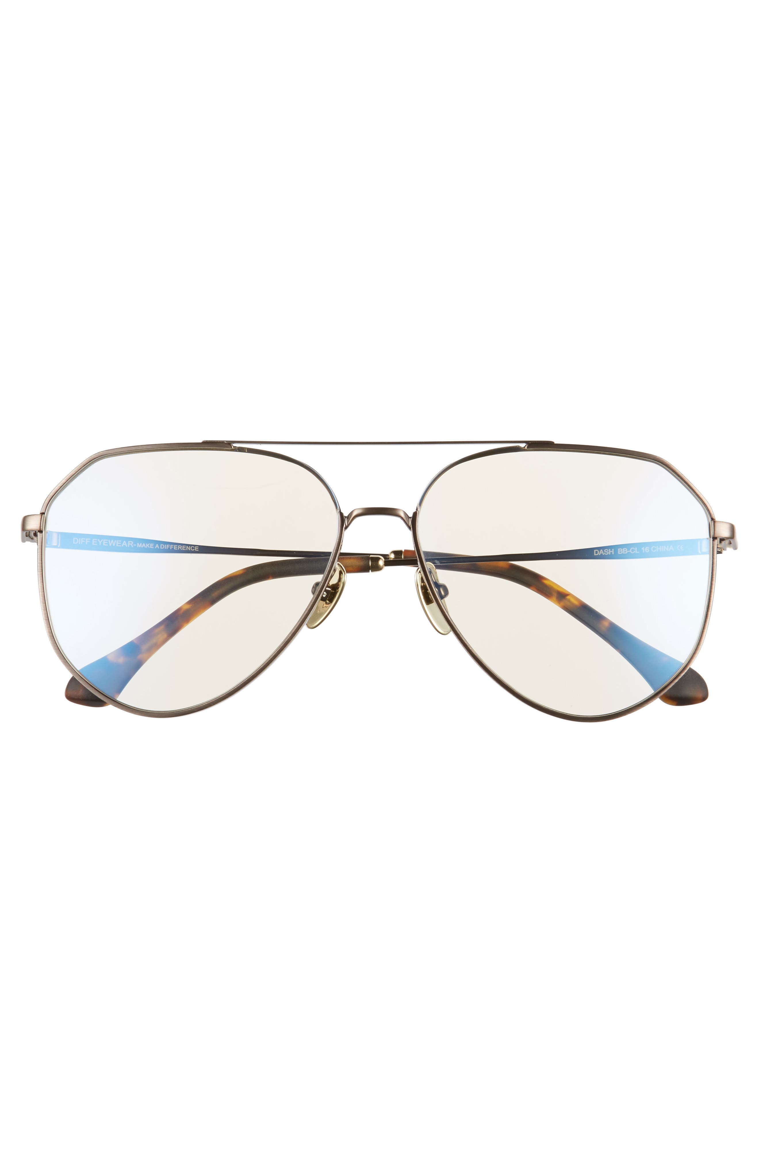 Dash 61mm Aviator Sunglasses,                             Alternate thumbnail 3, color,                             200