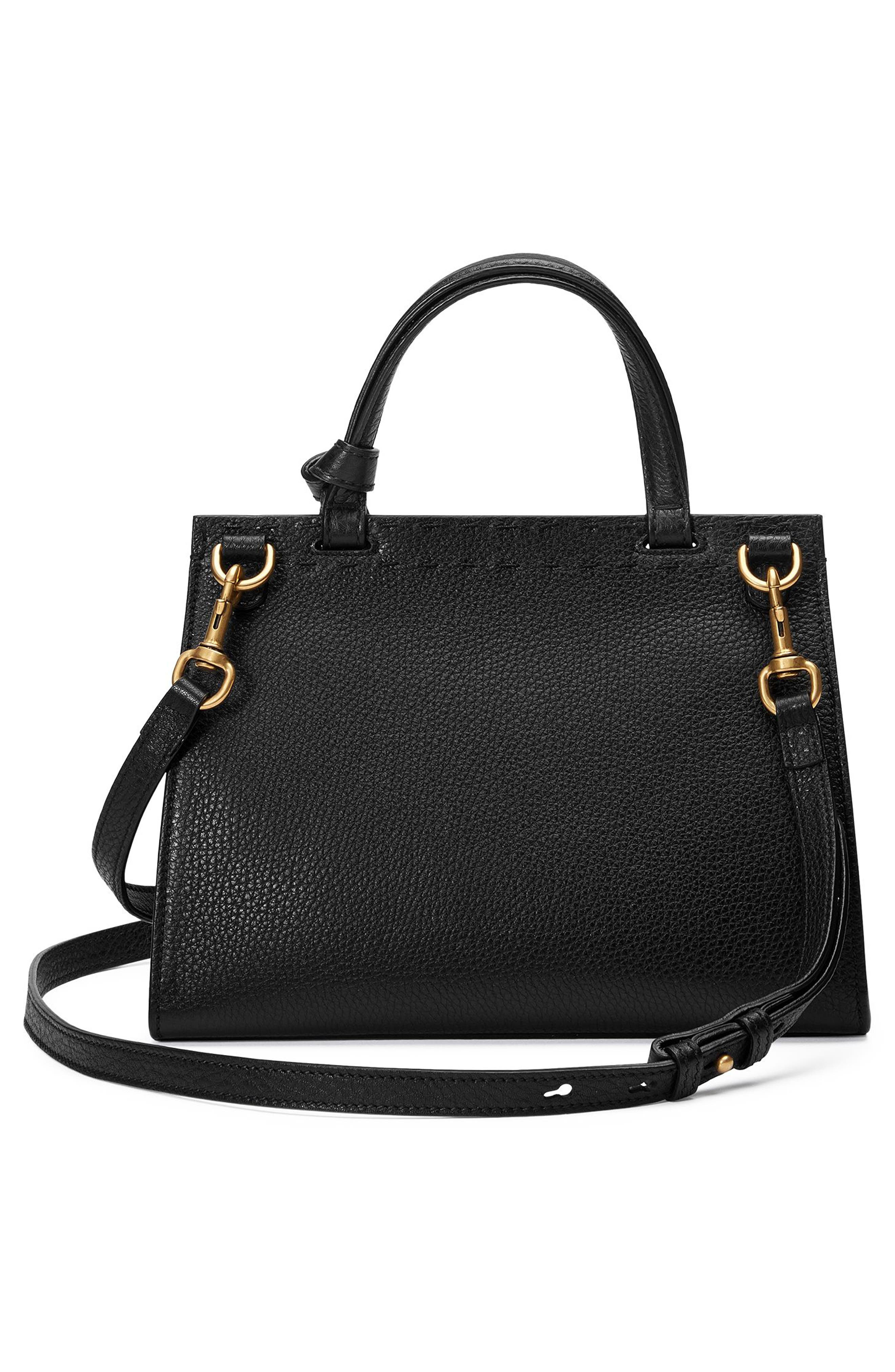 Small GG Marmont Top Handle Satchel,                             Alternate thumbnail 2, color,                             001