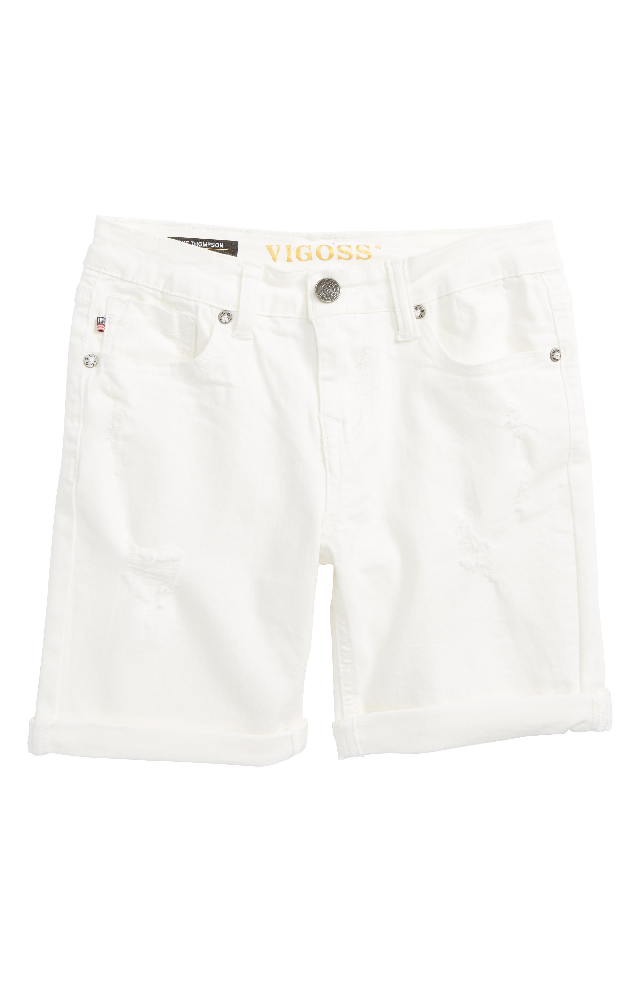 Distressed Bermuda Shorts,                             Main thumbnail 1, color,                             100