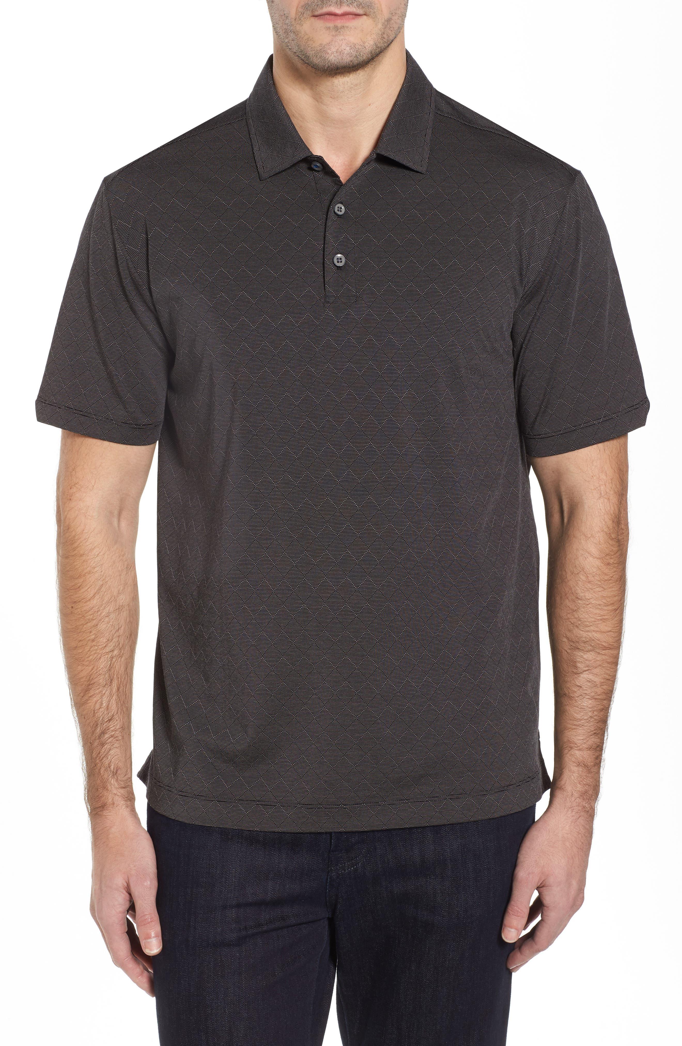 Diamond Drift Spectator Polo Shirt,                             Main thumbnail 1, color,                             001