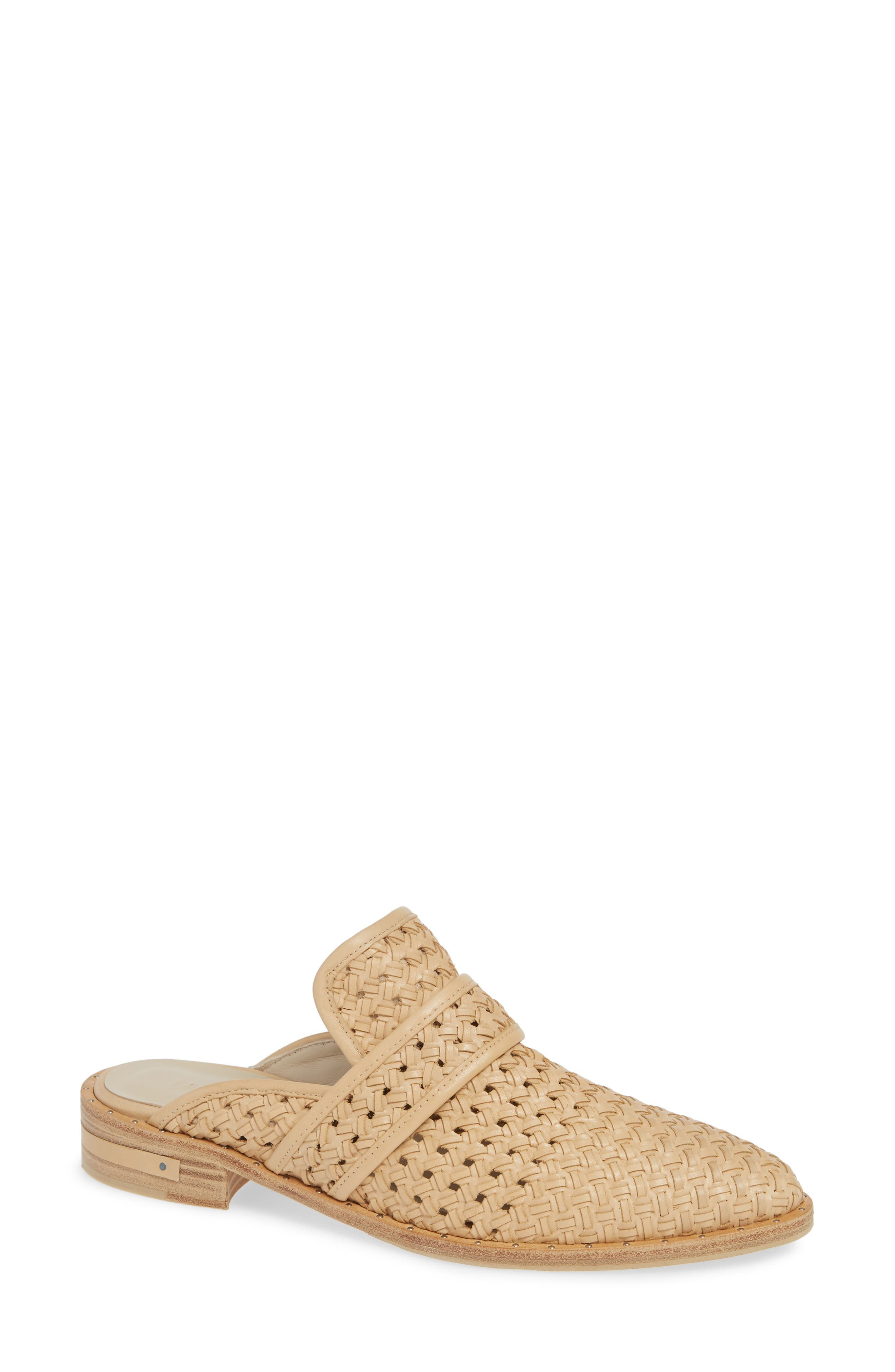 FREDA SALVADOR Keen Woven Mules in Nude